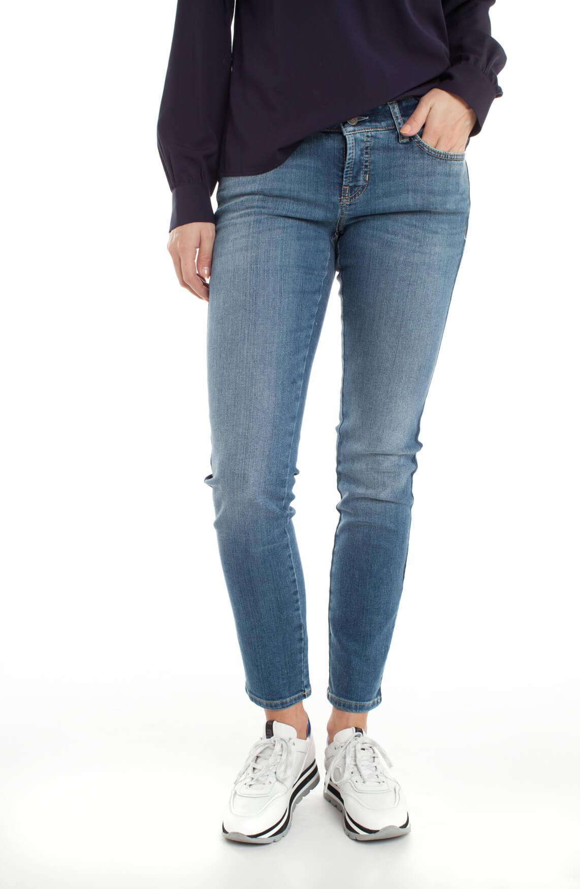 Cambio Dames Liu jeans met streep Blauw