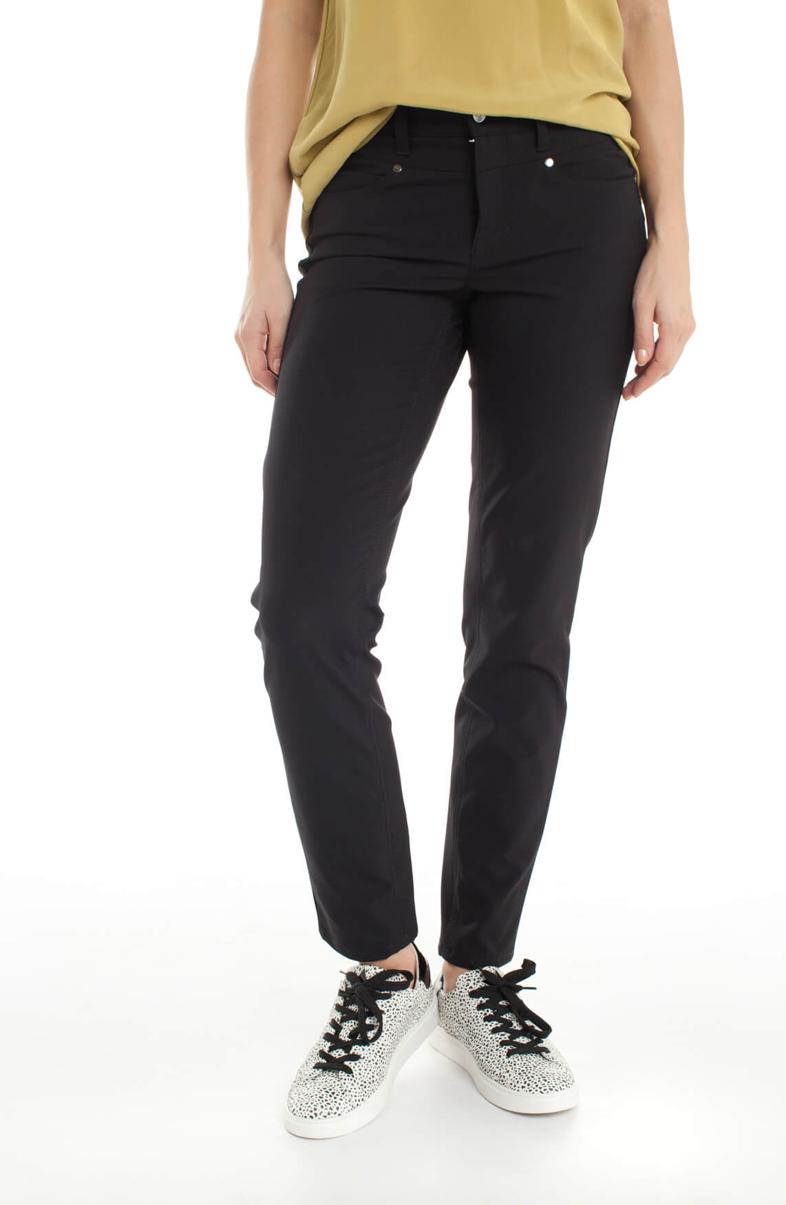 Cambio Dames Posh stretch pantalon zwart