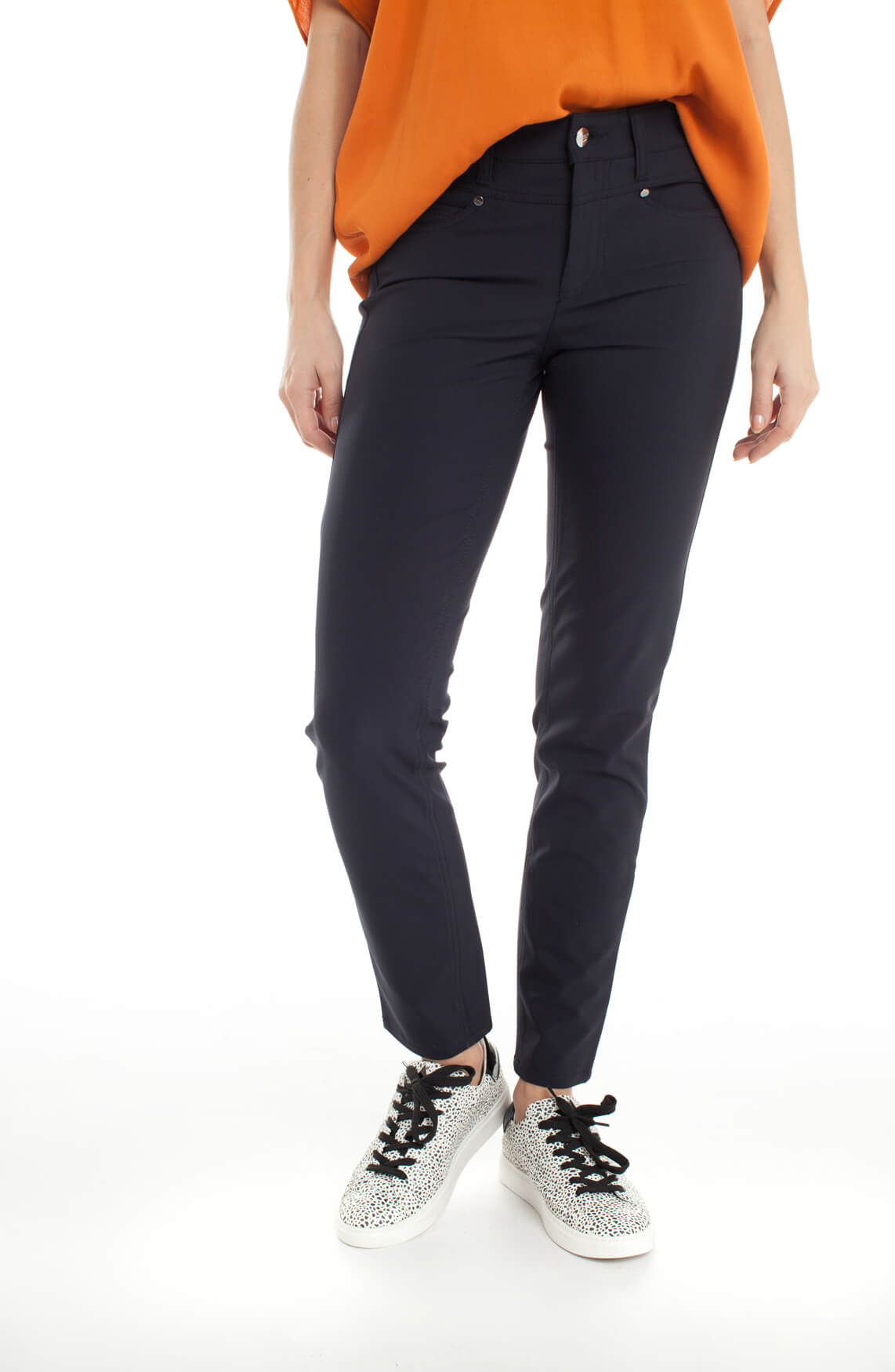 Cambio Dames Posh stretch pantalon Blauw