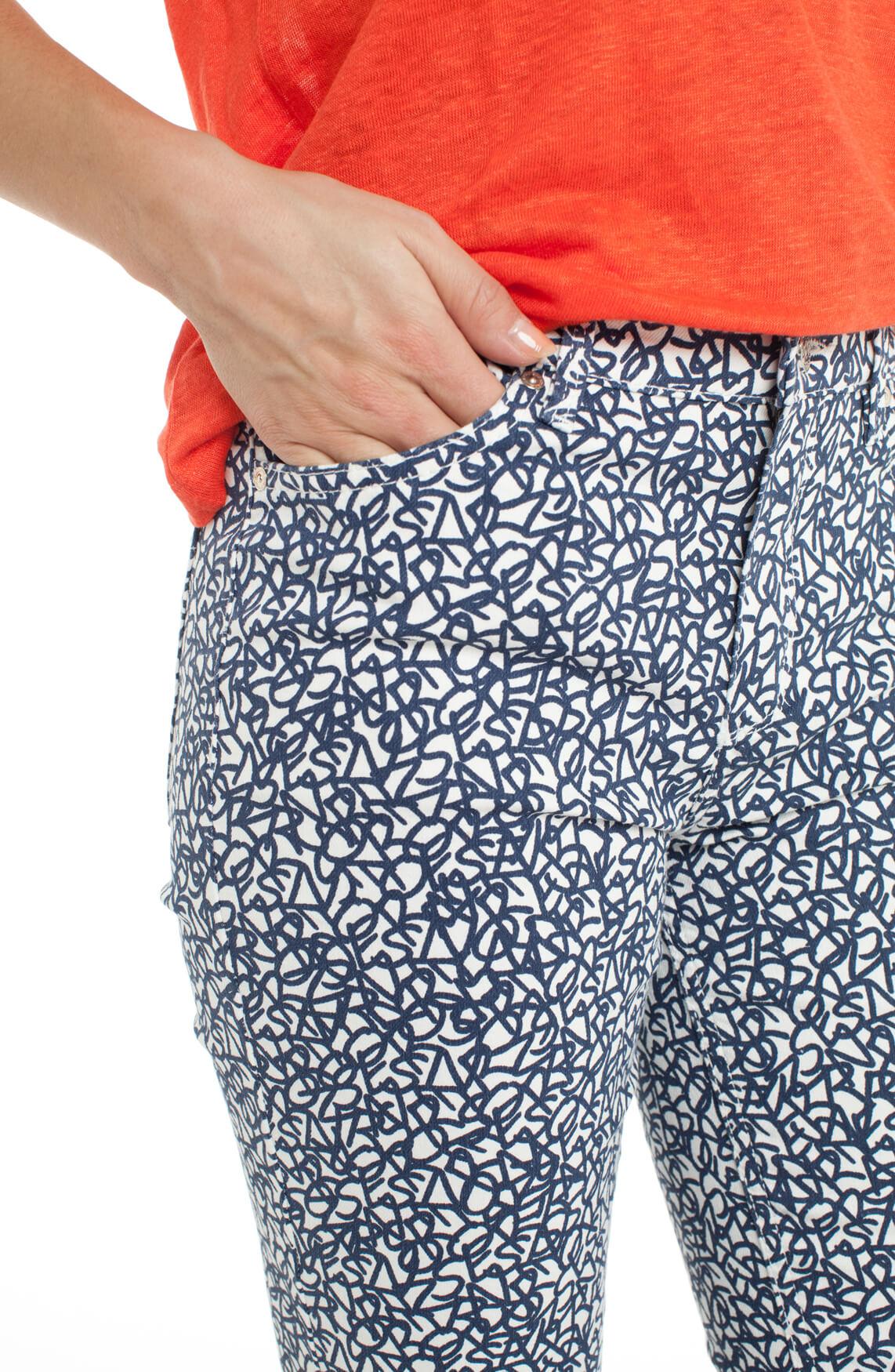 Rosner Dames Antonia broek met print wit