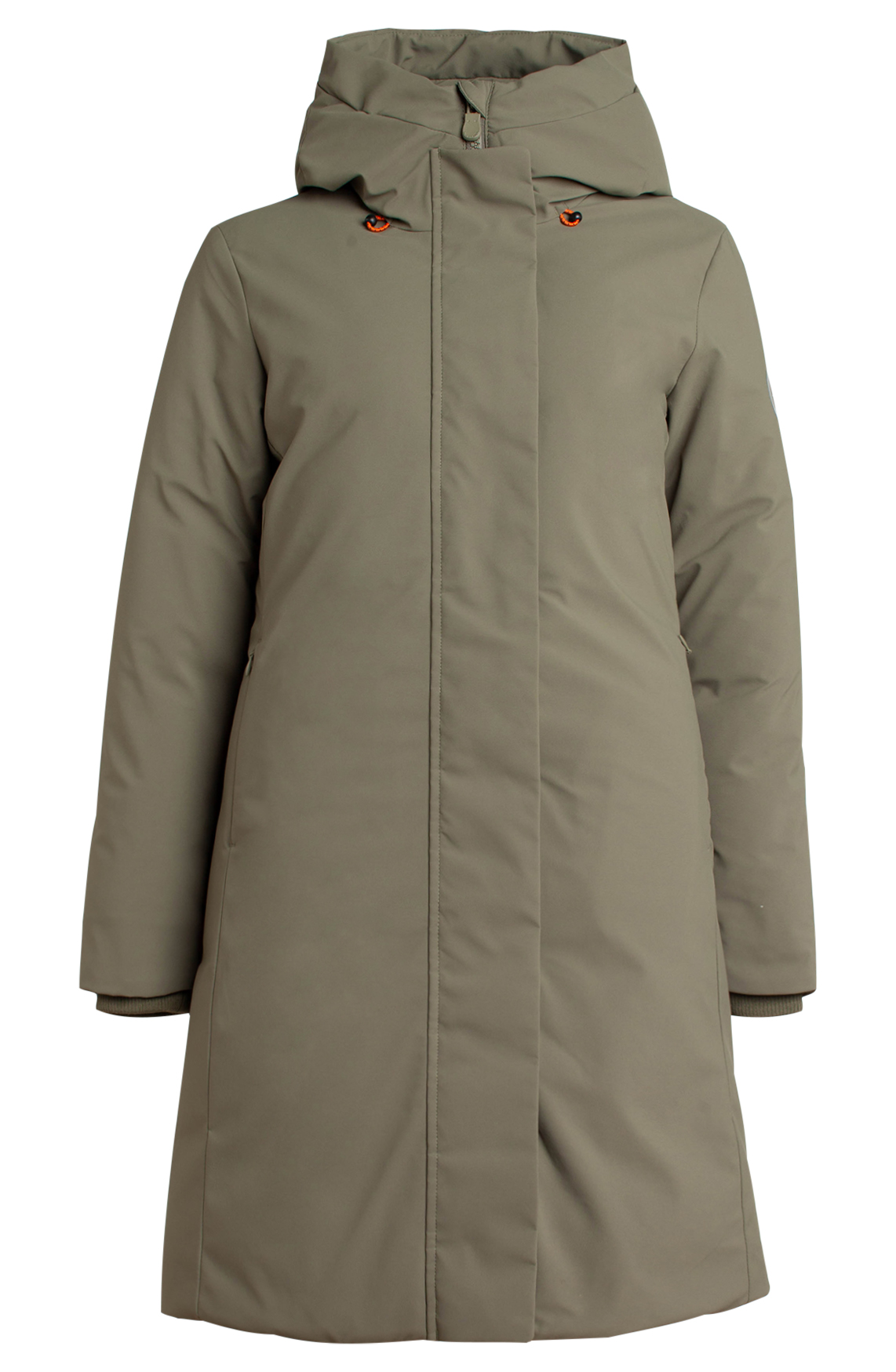 Save the Duck Dames Parka met matte look groen