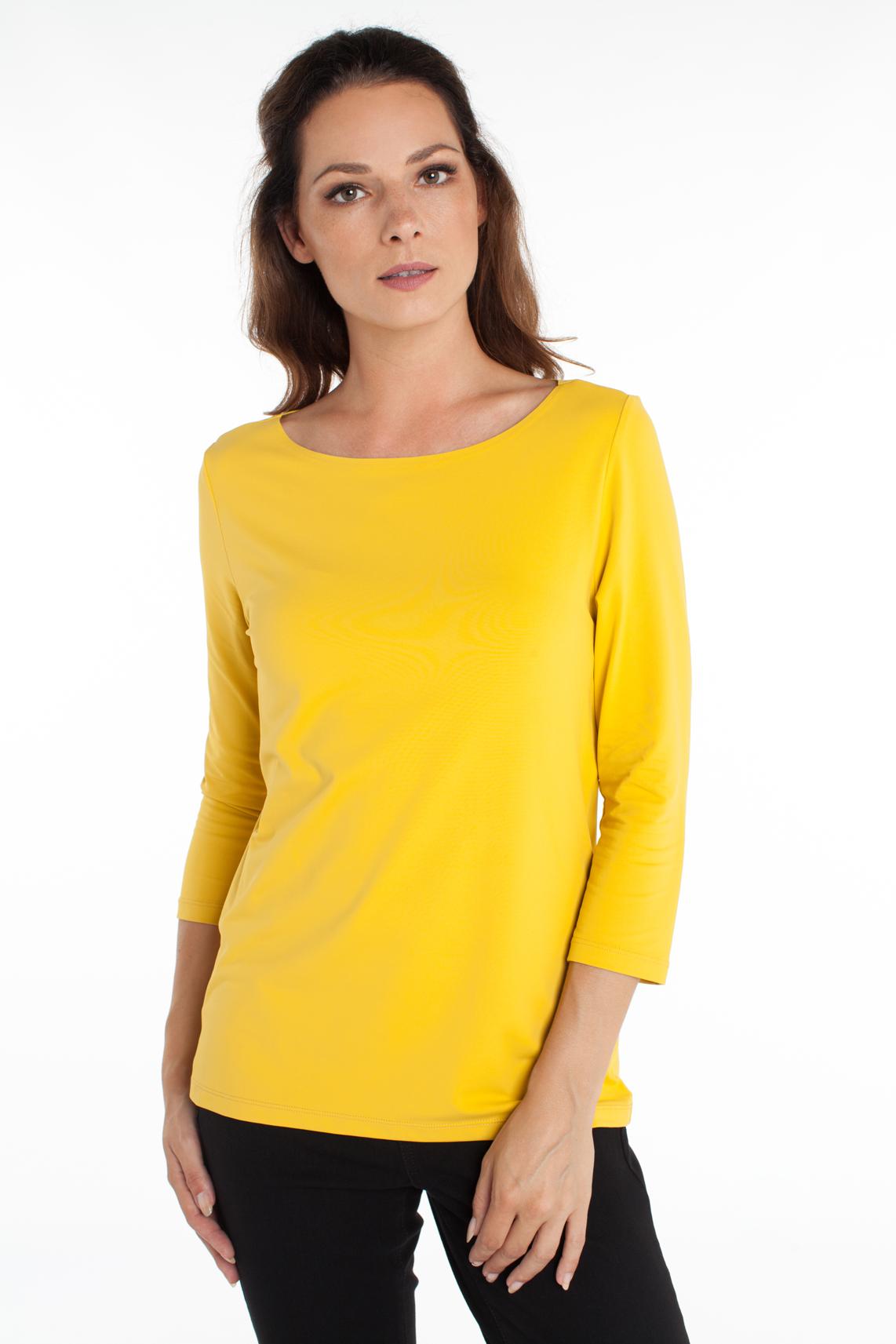 Anna Dames Seamless shirt geel