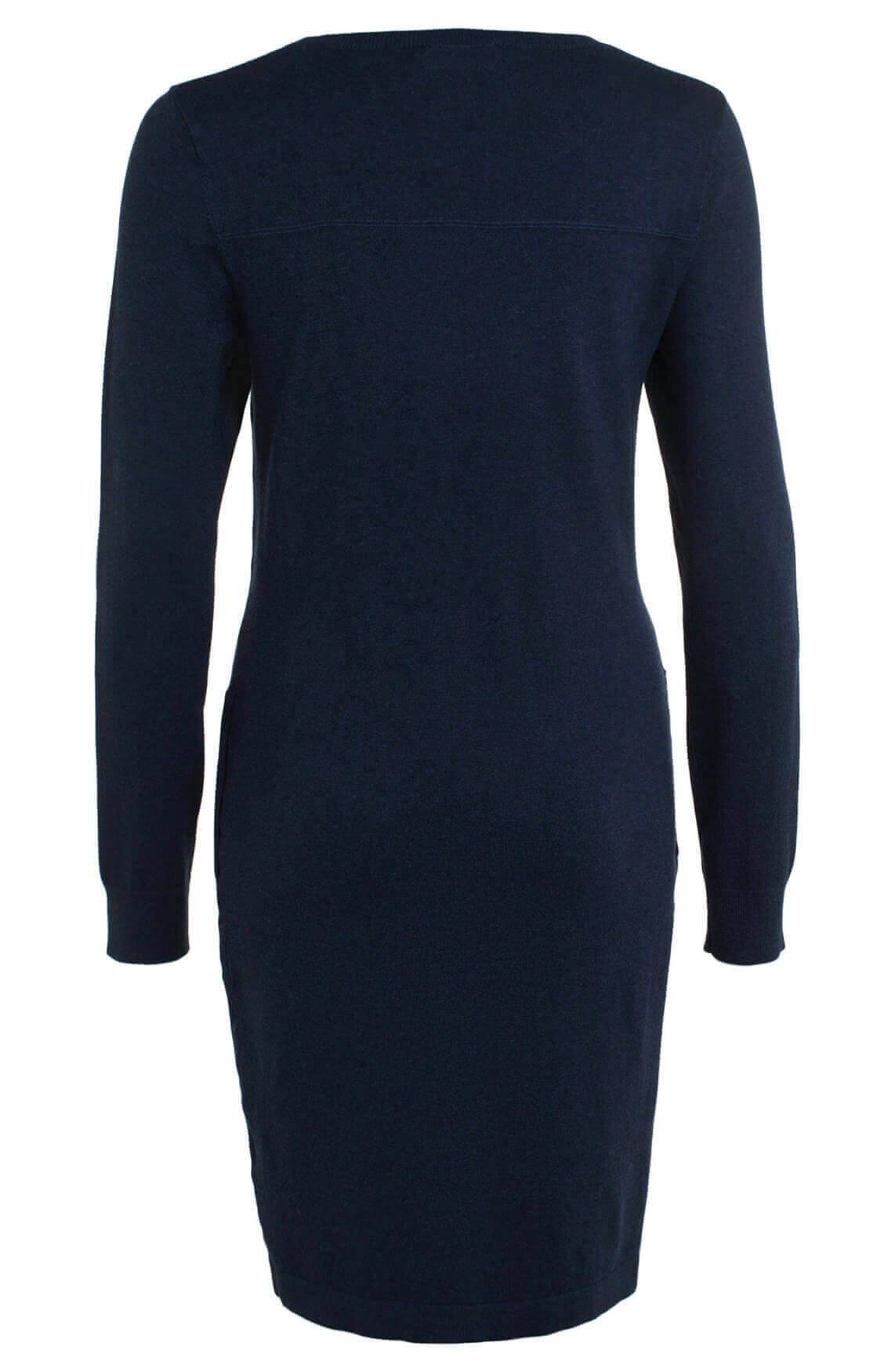 Anna Dames Fijngebreide jurk Blauw