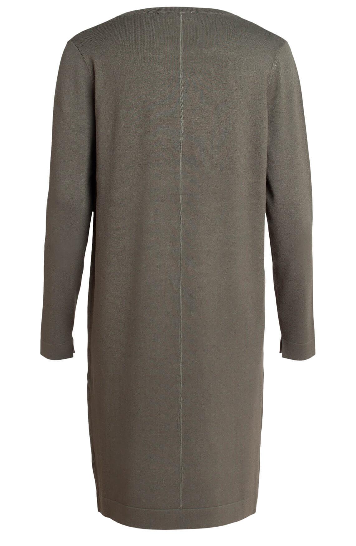Anna Dames Fijngebreide jurk groen
