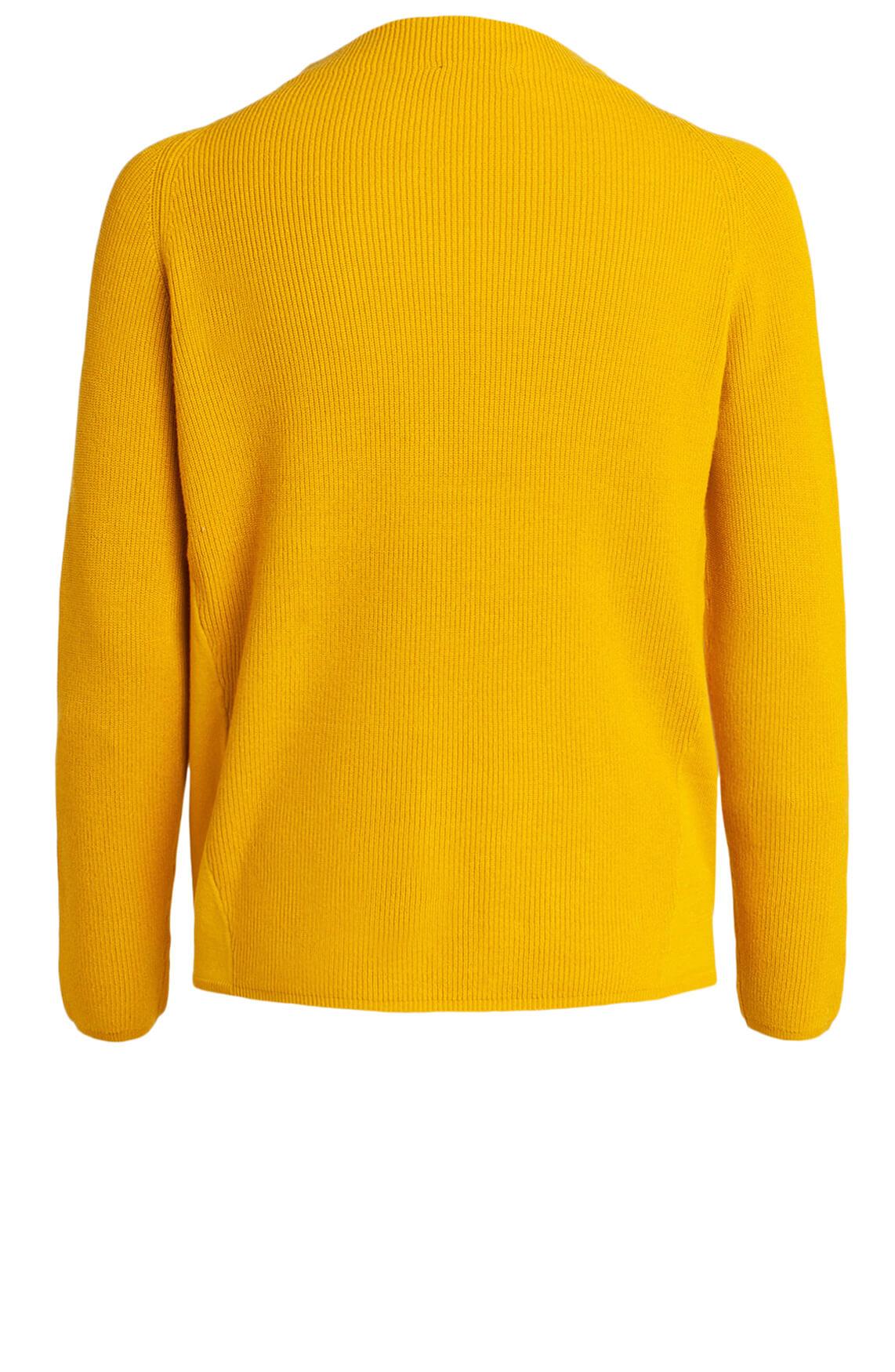 Anna Dames Ribgebreide pullover geel