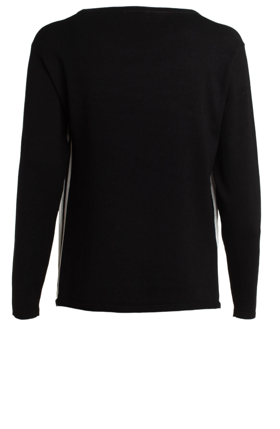 Anna Dames Pullover met bies zwart