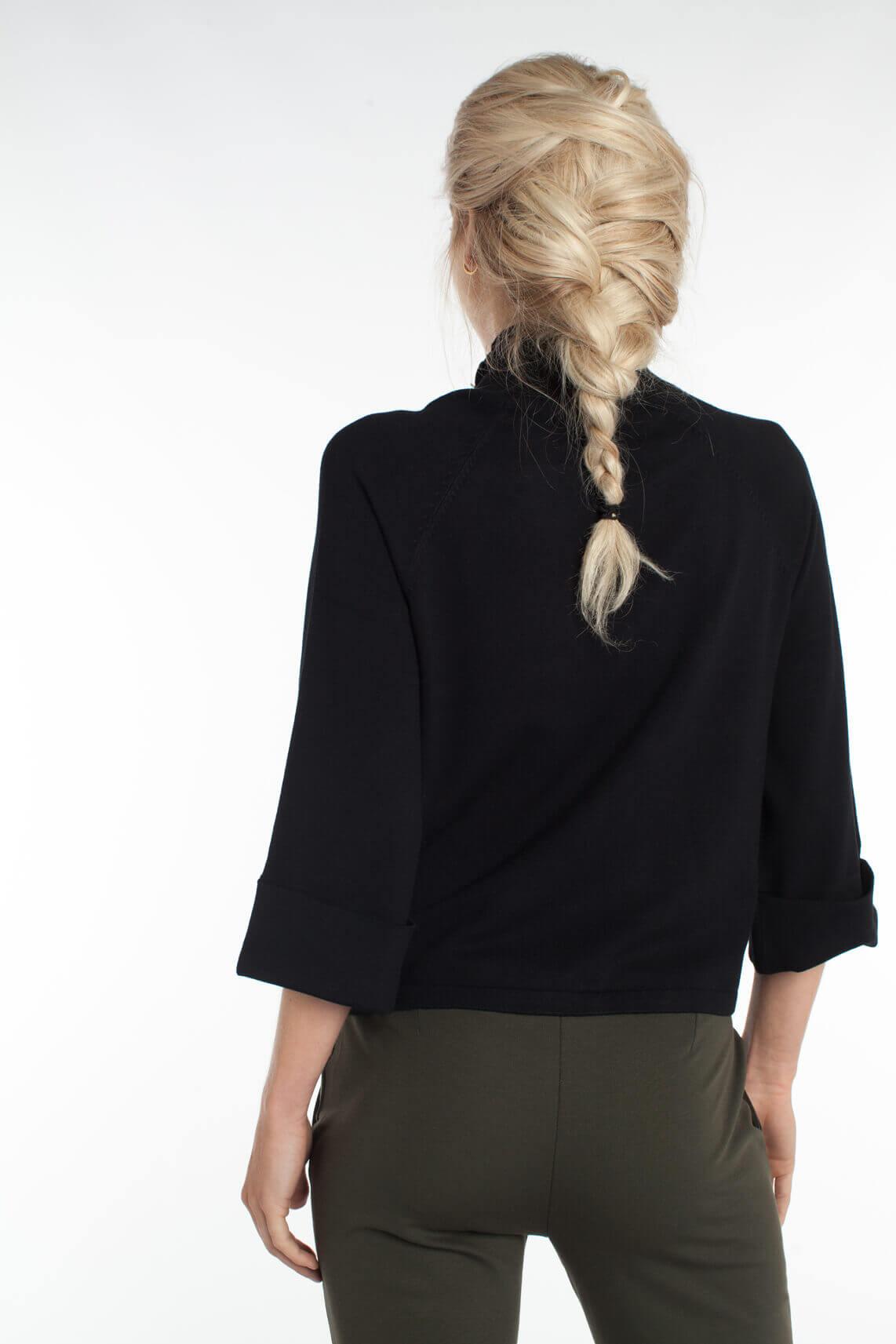 Anna Dames Pullover met sierknoopjes zwart