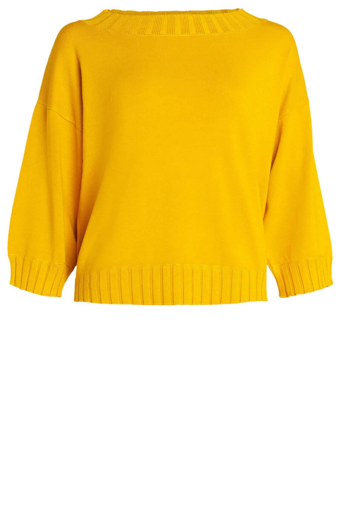 Anna Dames Wijde pullover geel