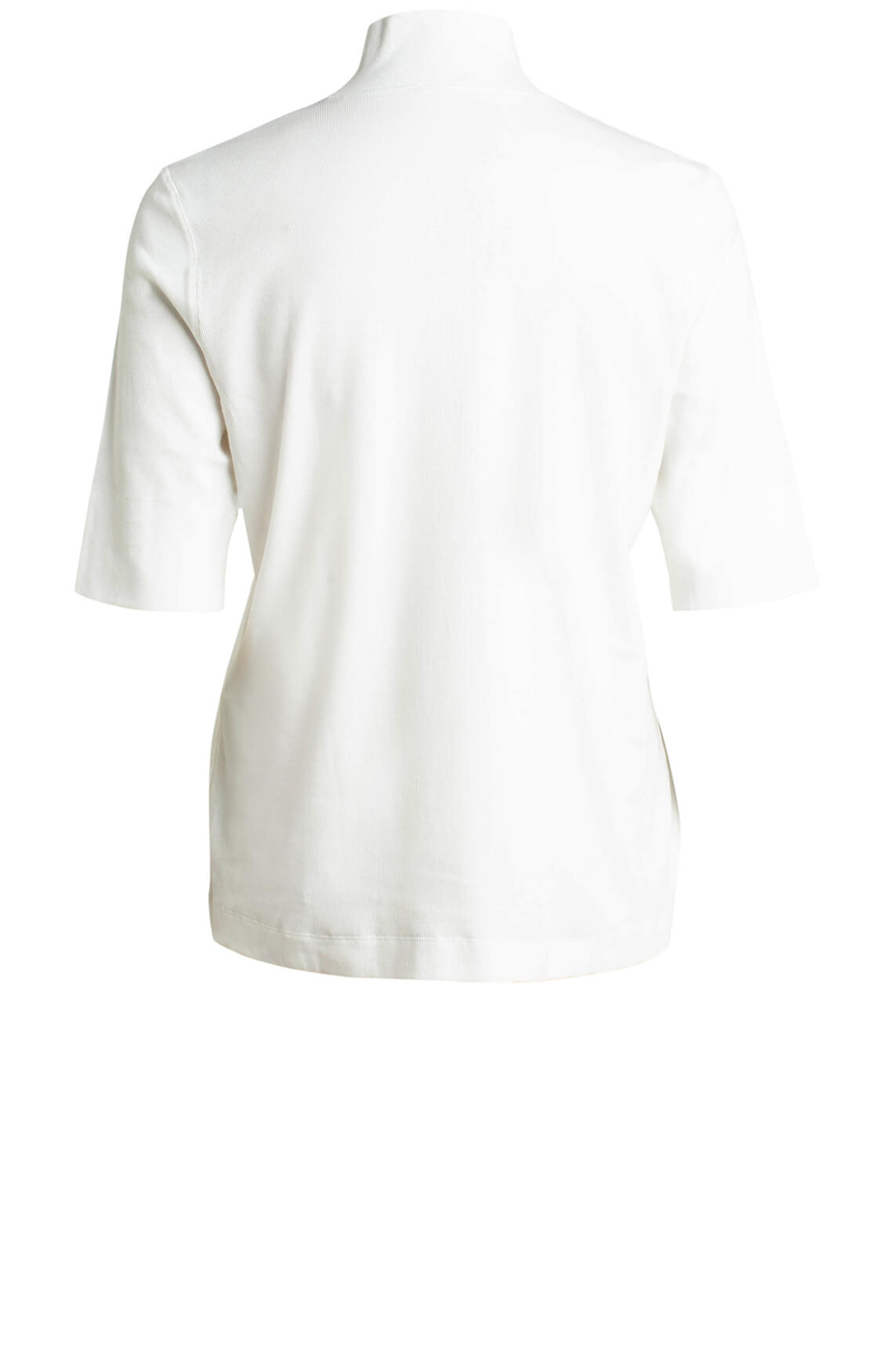 Marccain Sports Essentiels Dames Fijngeribd shirt wit