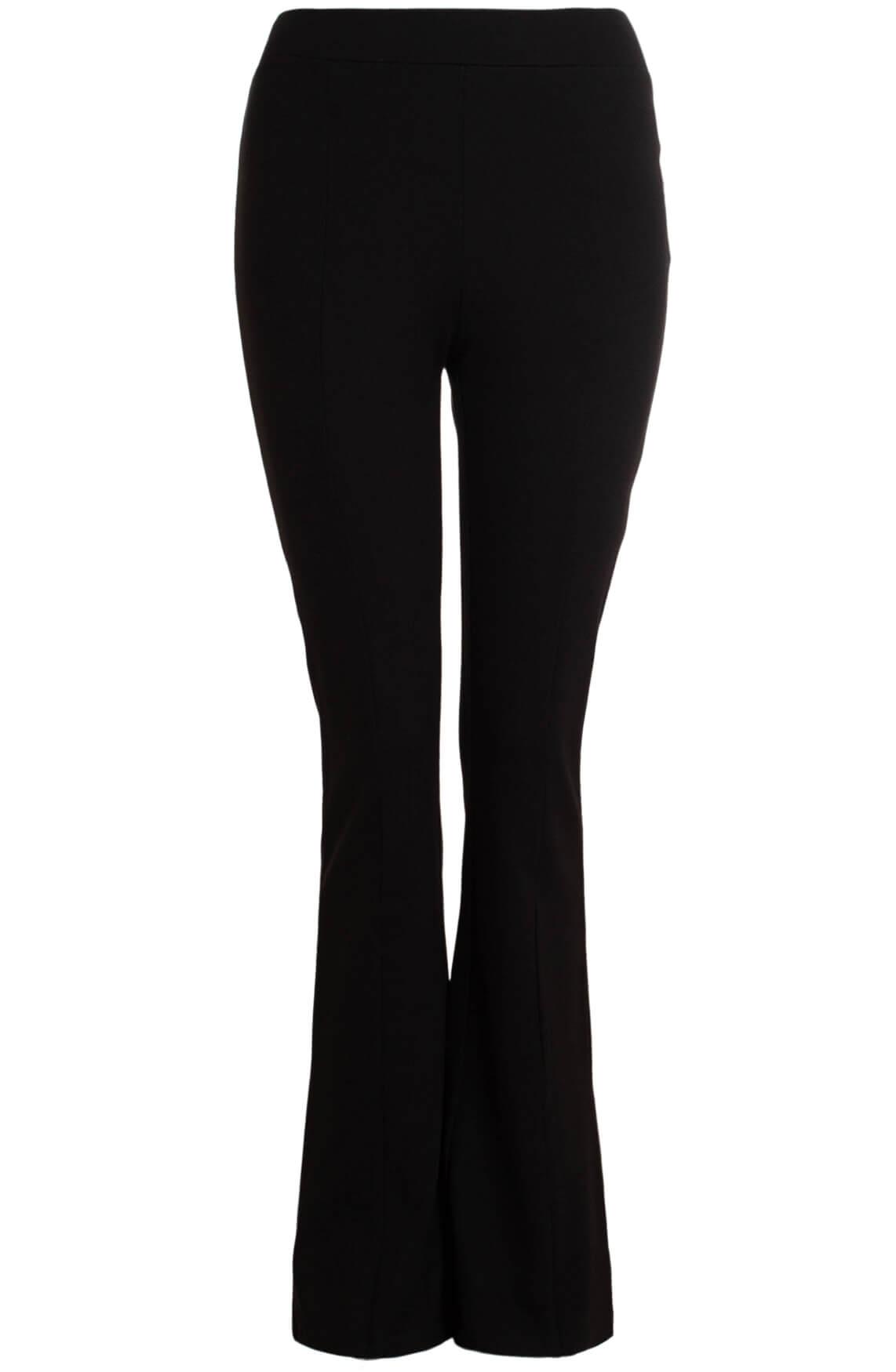 Alix The Label Dames Flared jersey broek zwart