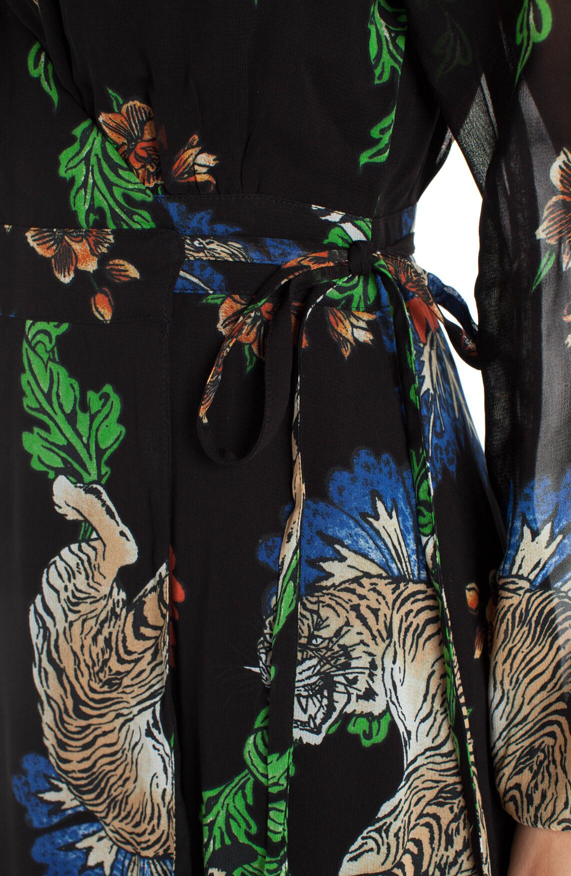 Alix The Label Dames Jurk met fancy print zwart