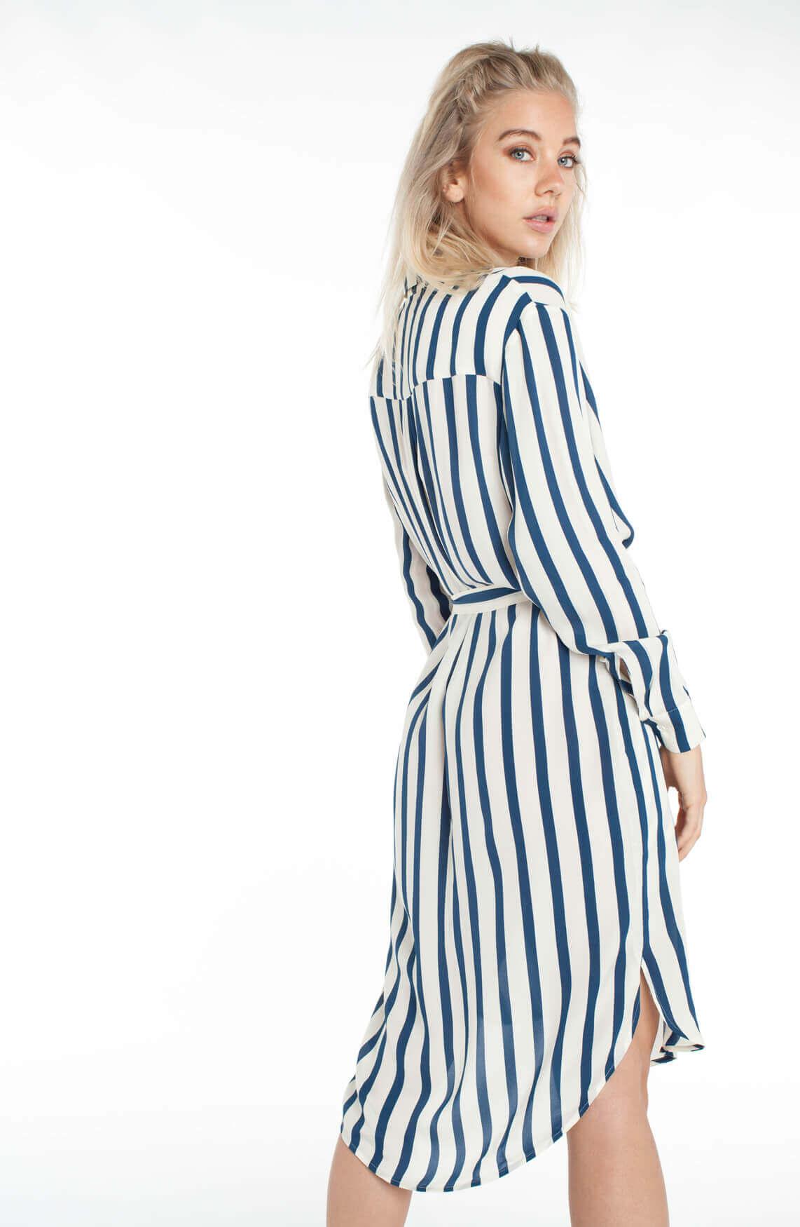Samsoe Samsoe Dames Stella t-shirt jurk Blauw