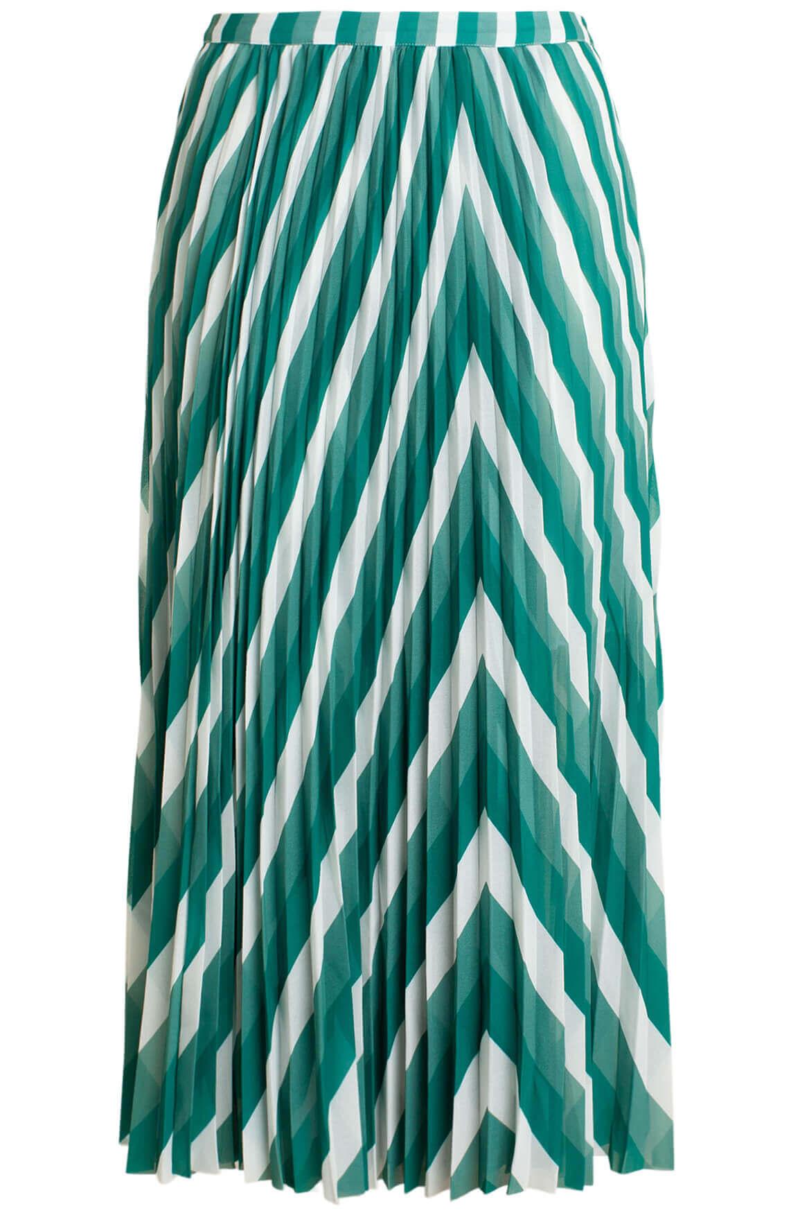 Samsoe Samsoe Dames Cocos plissé rok groen