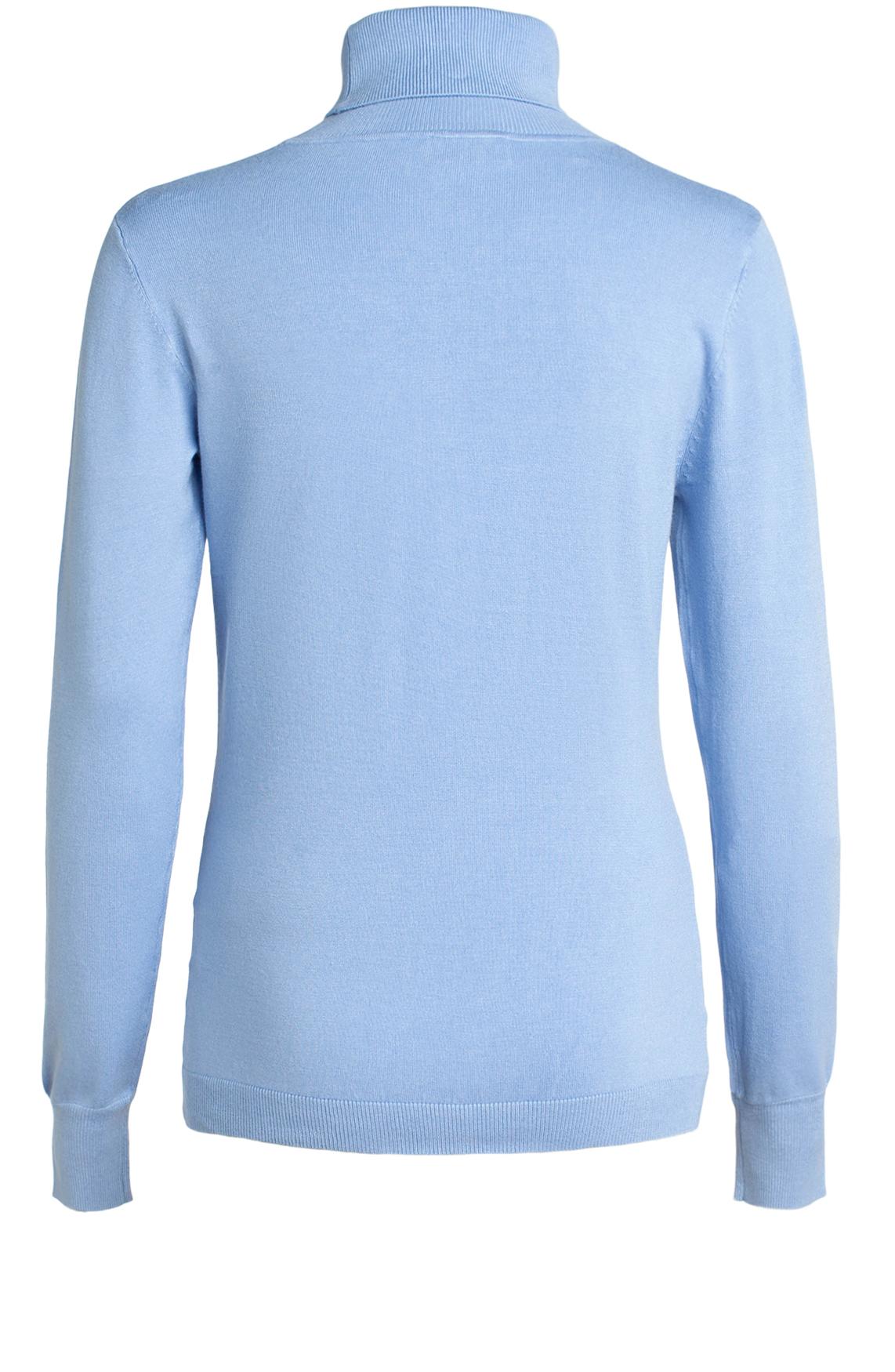 Anna Dames Pullover met col Blauw