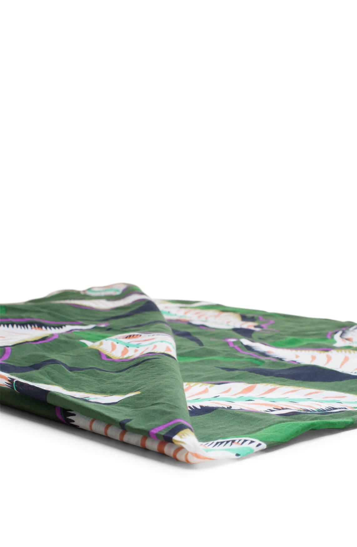 Anna Dames Shawl met bladprint groen