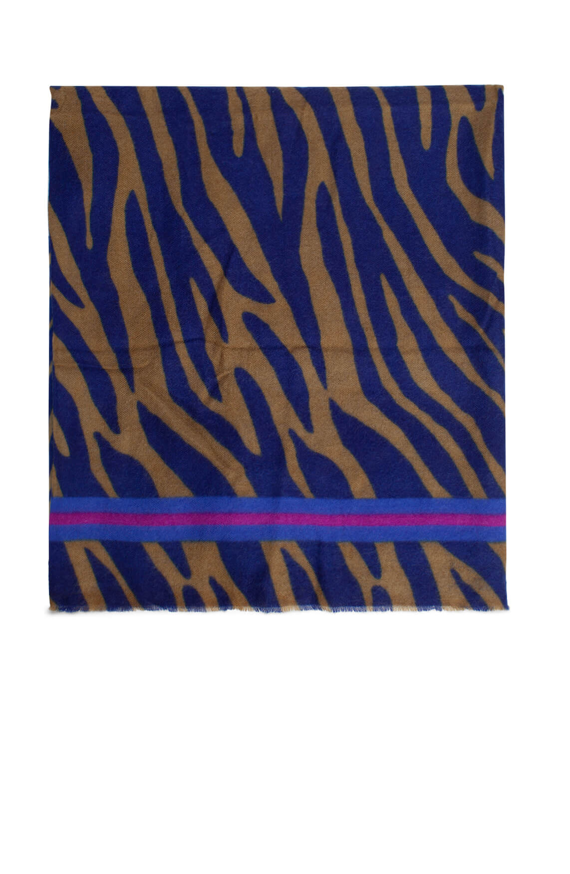Codello Dames Shawl met animalprint Blauw