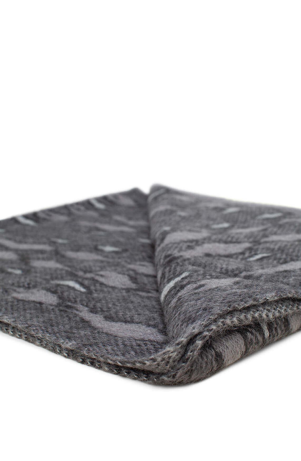 Codello Dames Gebreide shawl met reptielprint Grijs