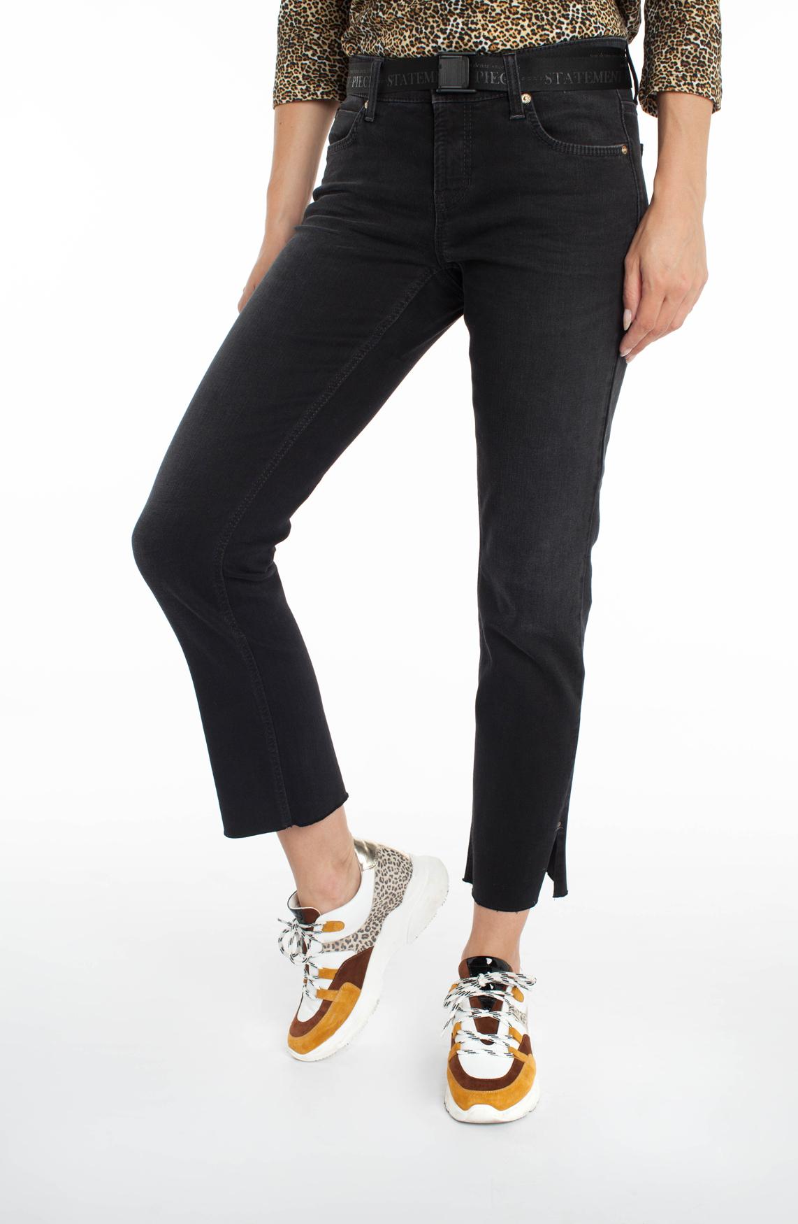 Cambio Dames Tess jeans met ceintuur zwart
