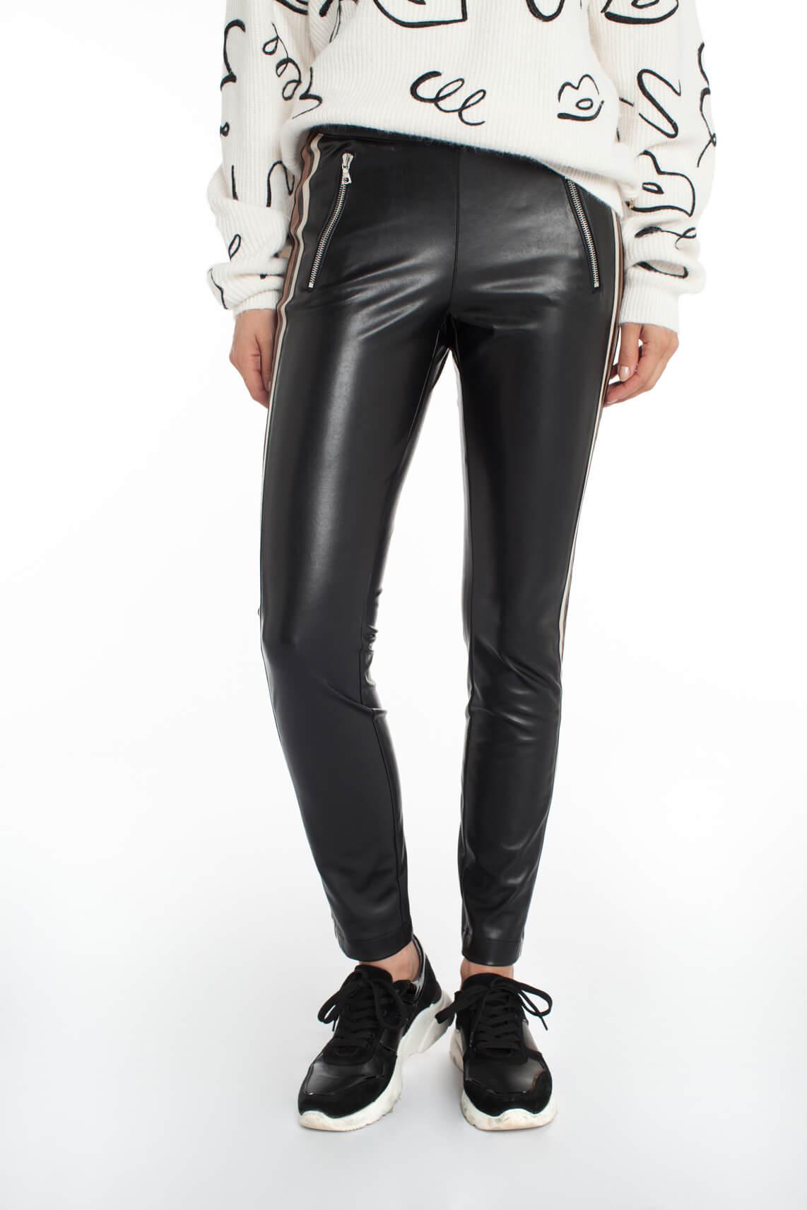Cambio Dames Ray fake leather tregging zwart