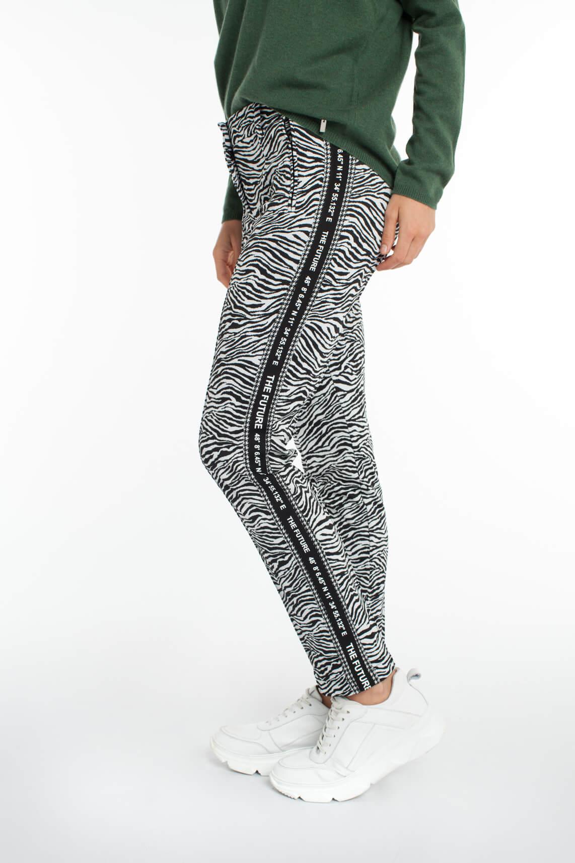 Cambio Dames Rhona zebra jogpantalon zwart
