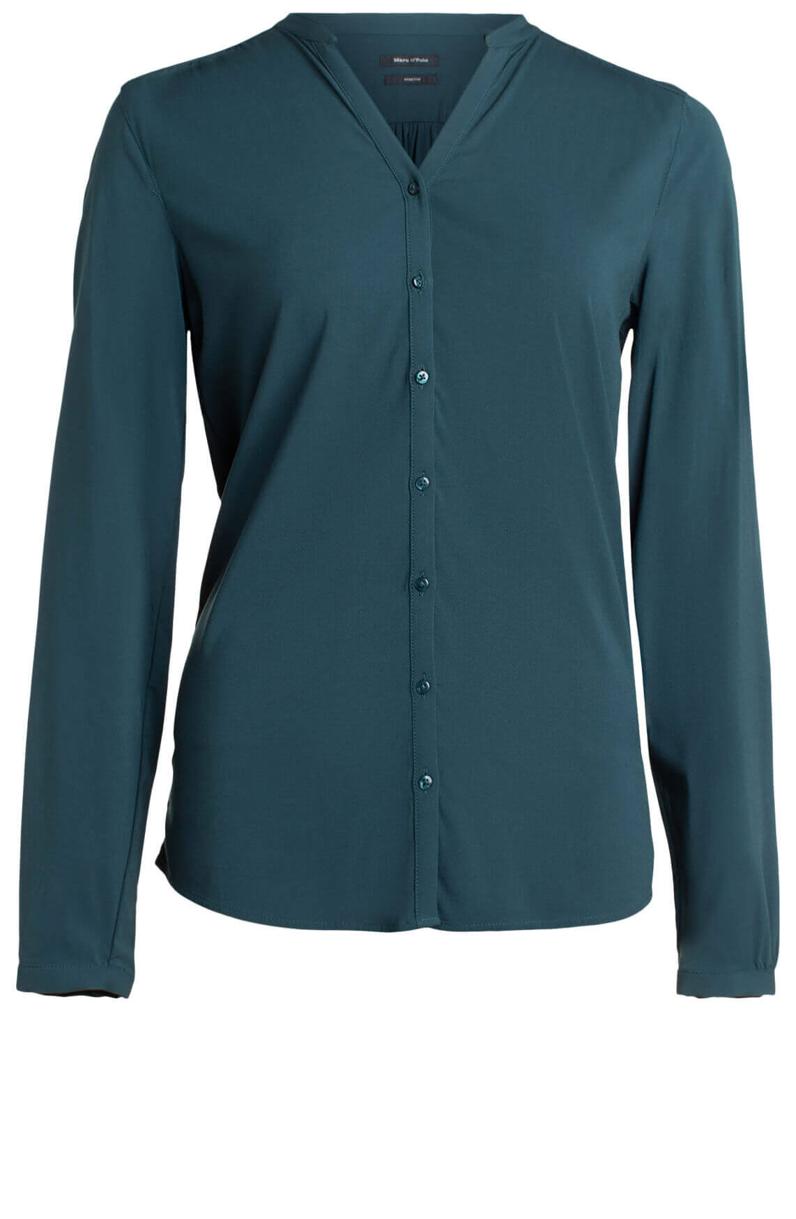 Marc O'Polo Dames Blouse met stretch groen
