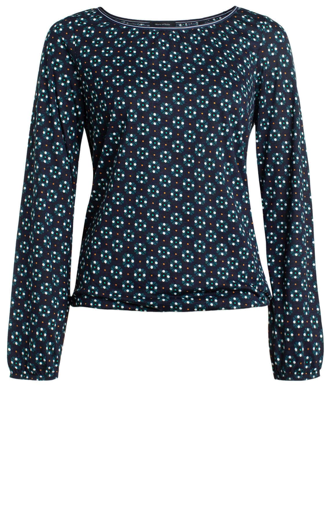 Marc O'Polo Dames Shirt met print Blauw