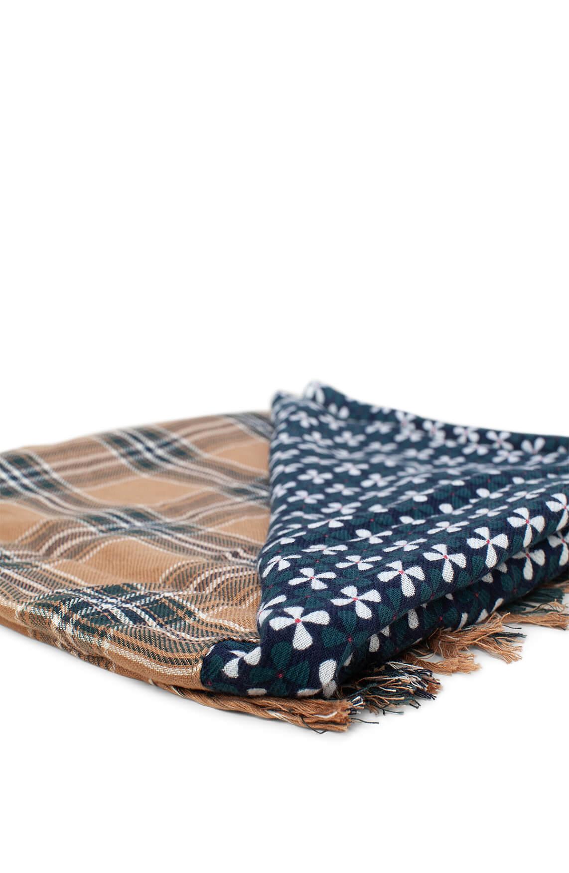 Marc O'Polo Dames Patchwork shawl groen