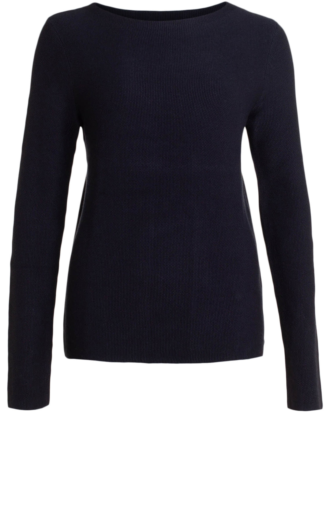 Marc O'Polo Dames Pullover met fijne structuur Blauw
