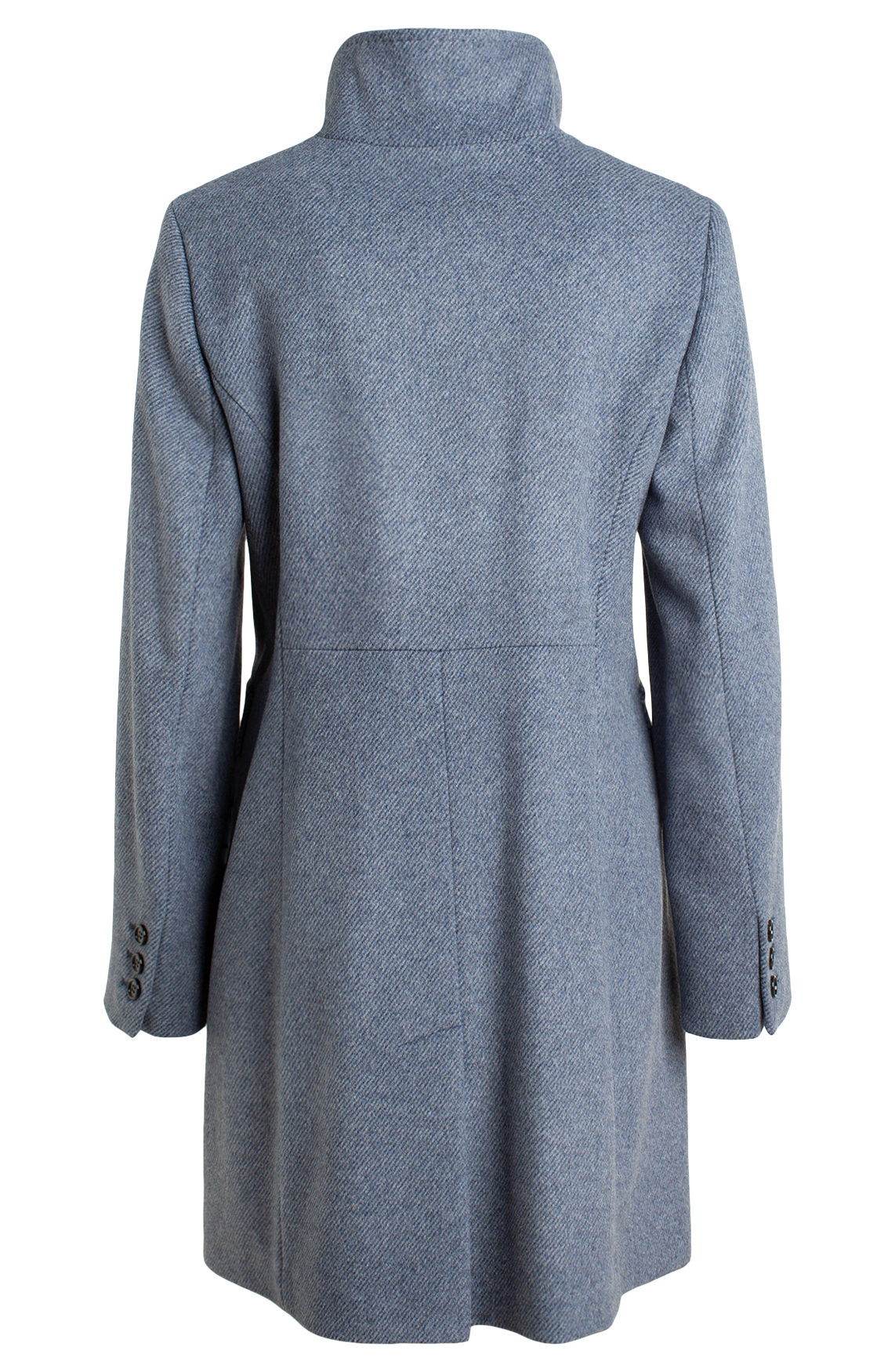 Gil Bret Dames Wollen jas met streepjes Blauw