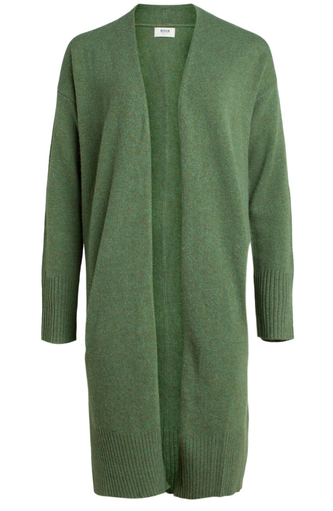 Anna Blue Dames Gemêleerd vest groen