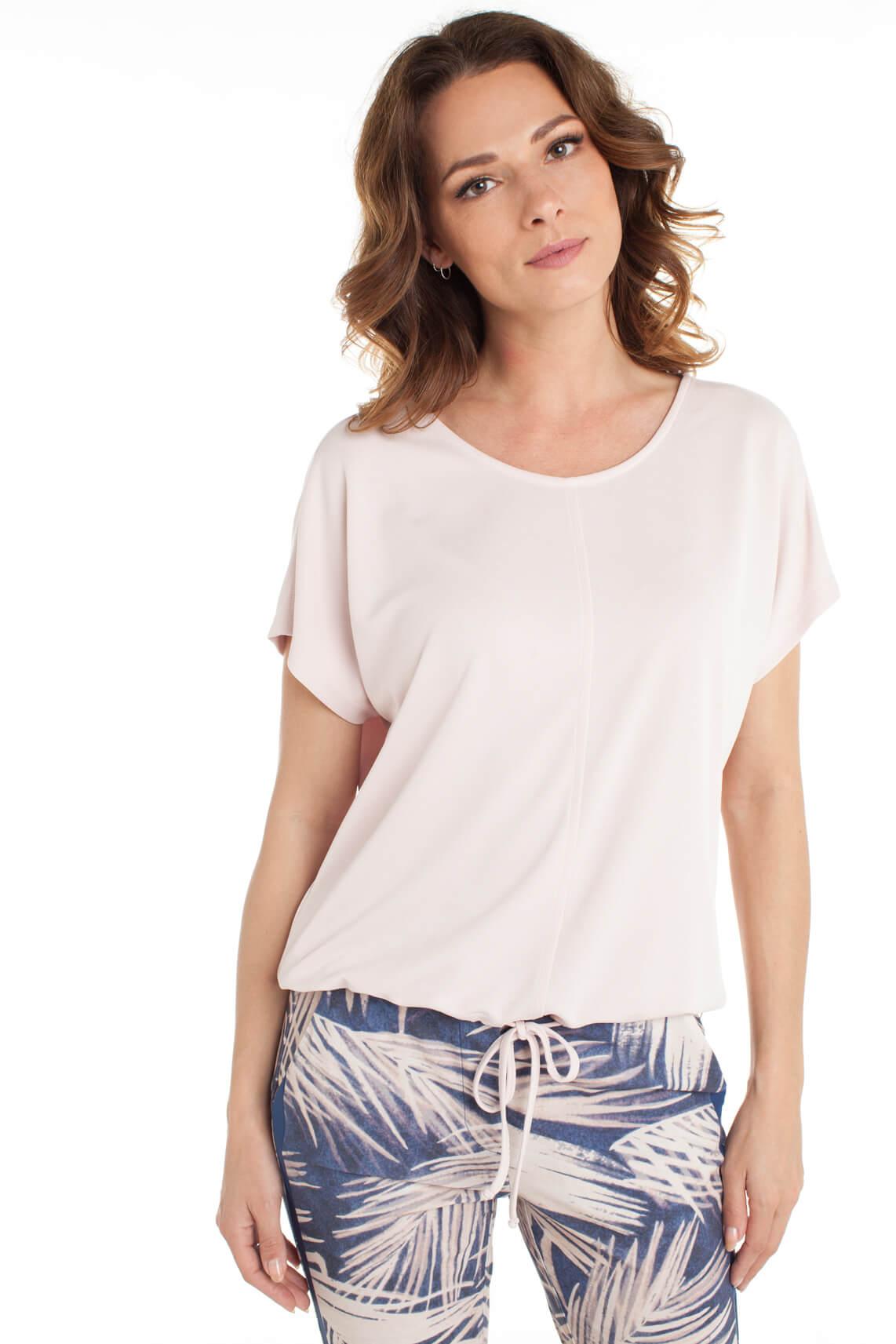 Anna Dames Shirt met koordsluiting roze