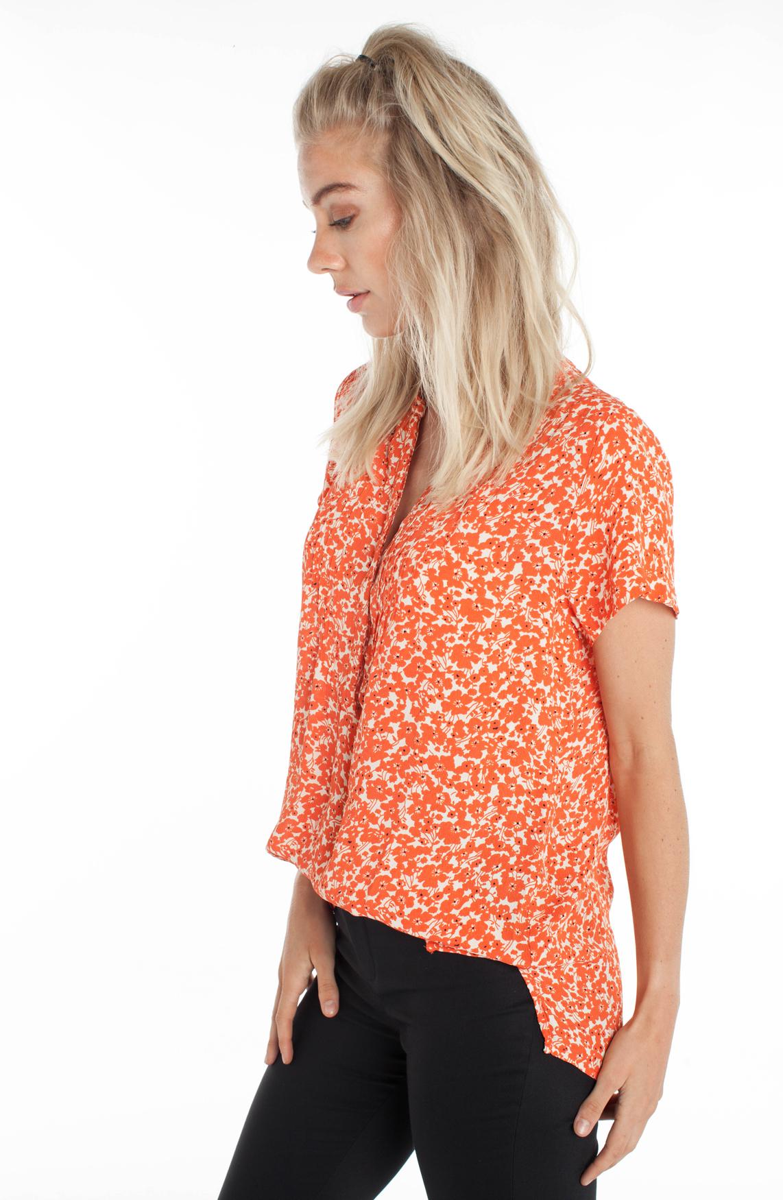 Lollys Laundry Dames Heather gebloemde blouse Oranje