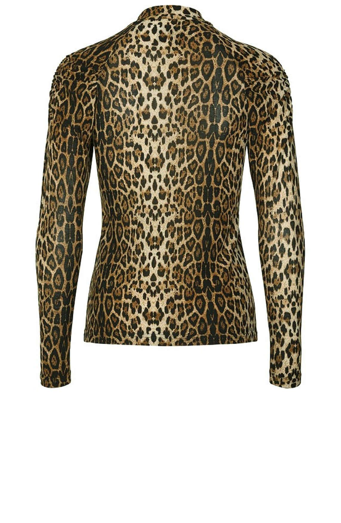 Lollys Laundry Dames Ellen luipaard shirt Bruin