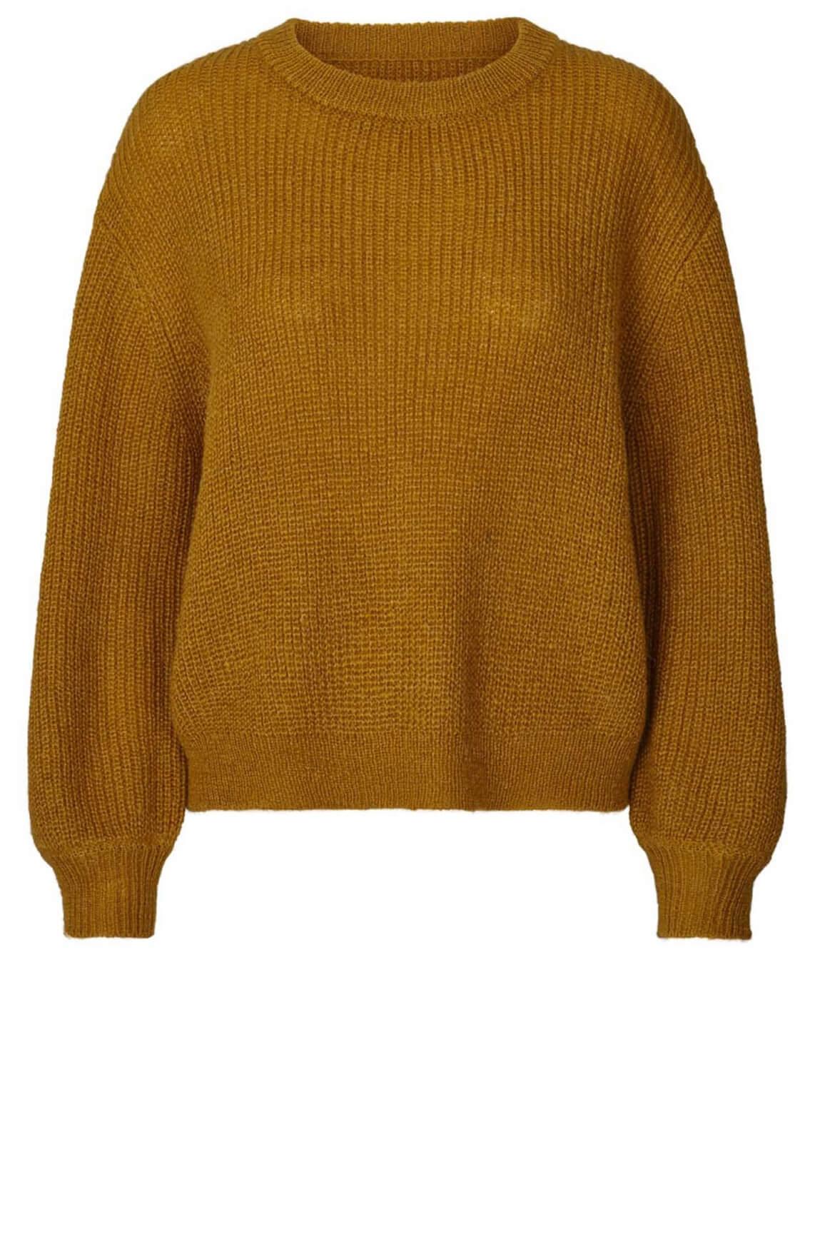 Lollys Laundry Dames Ameli gebreide trui geel