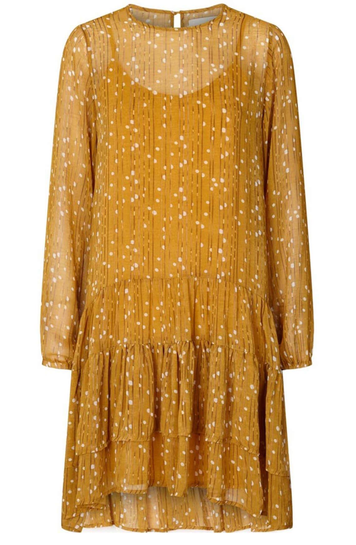 Lollys Laundry Dames Piper jurk geel