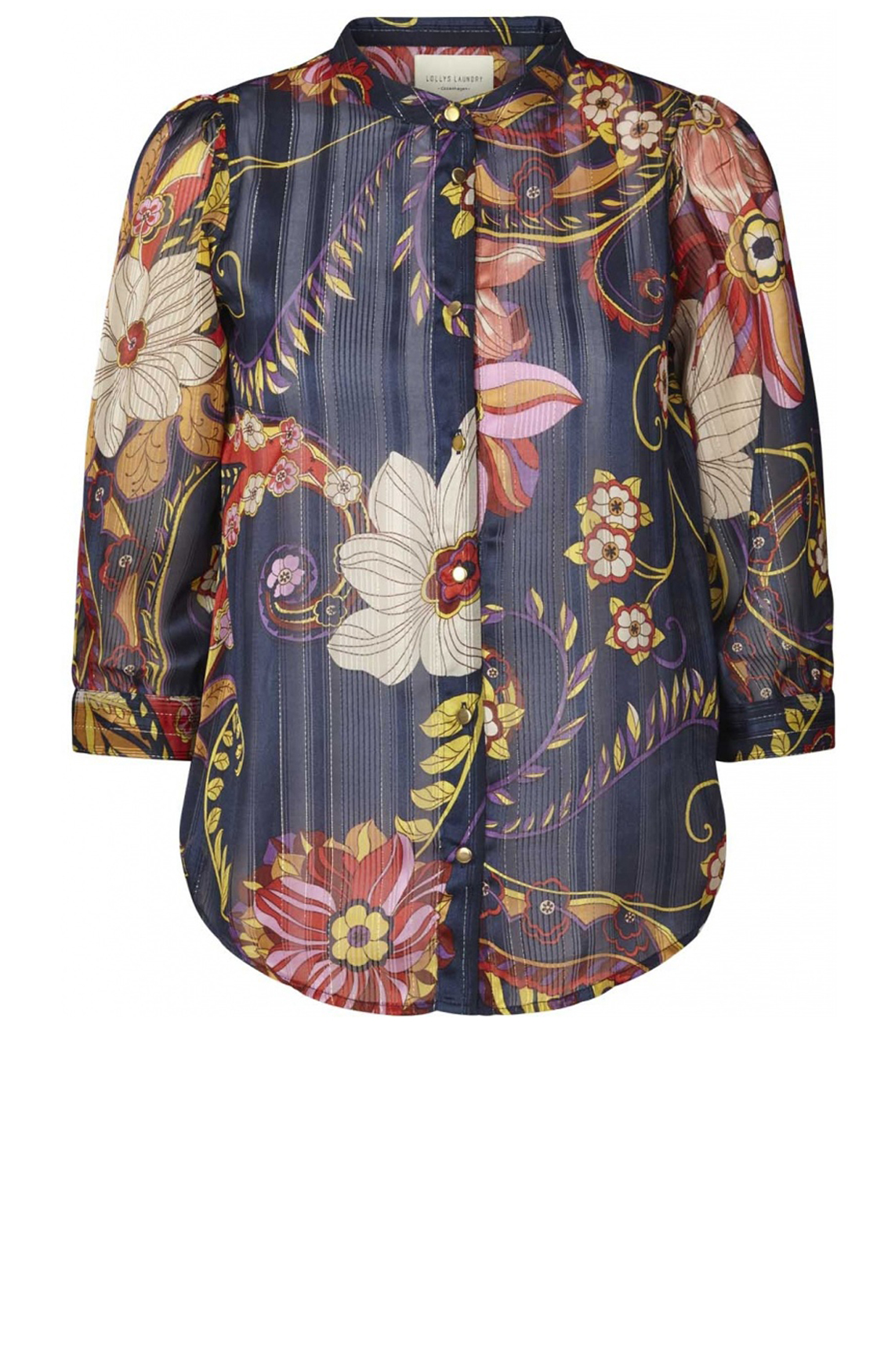 Lollys Laundry Dames Amalie blouse Blauw