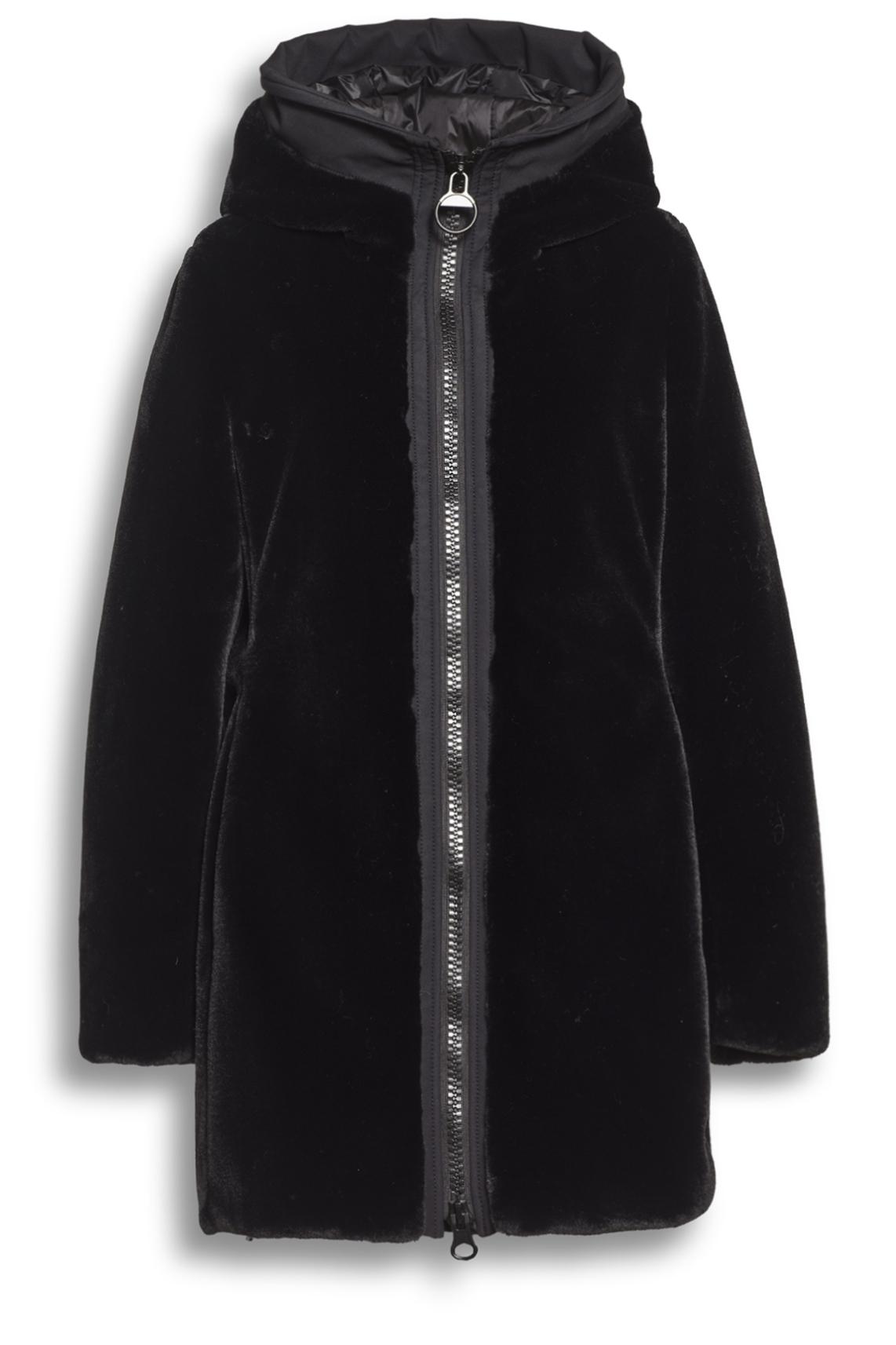 Creenstone Dames Fake fur jas zwart