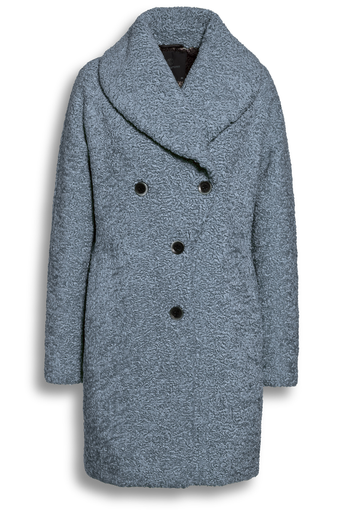 Creenstone Dames Lili bouclé mantel Blauw