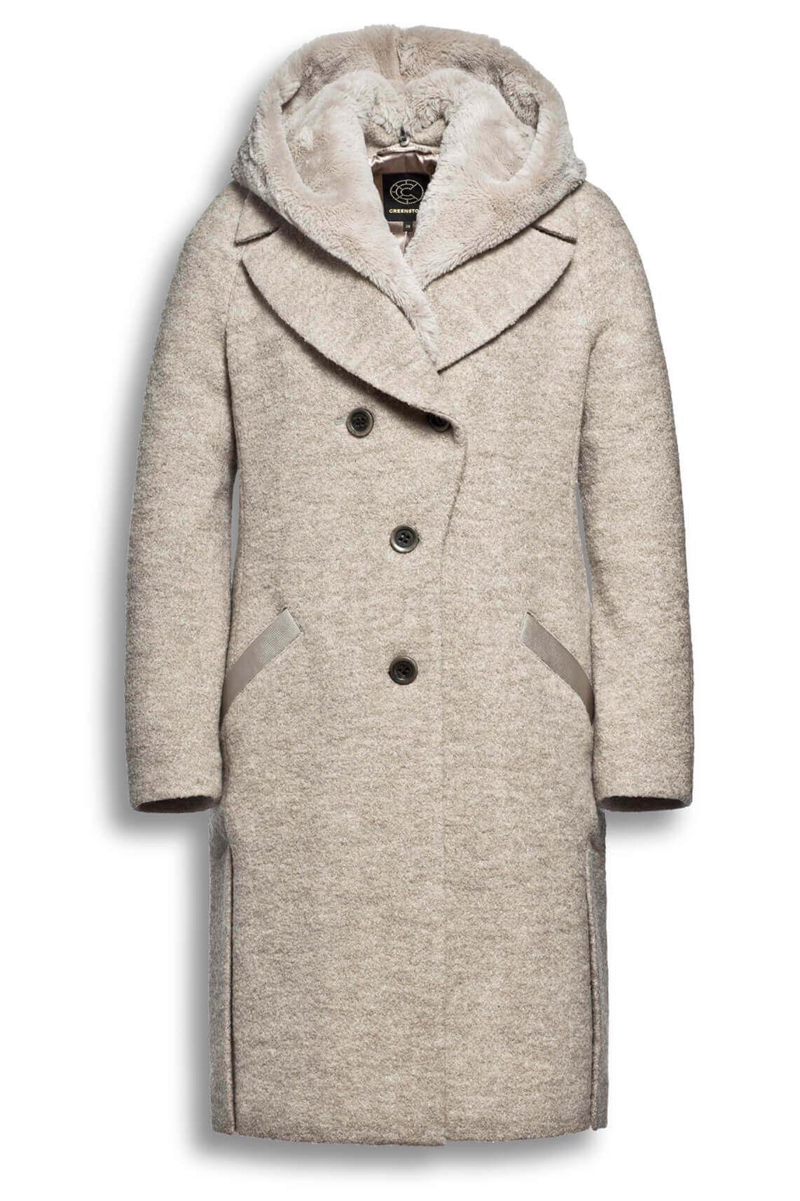 Creenstone Dames Penny wollen mantel Bruin