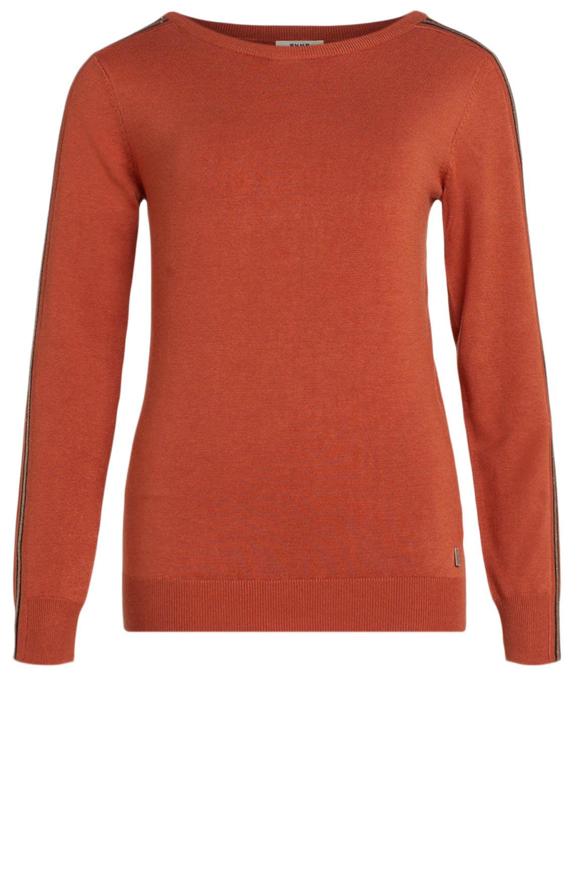 Anna Dames Pullover met lurex bies Oranje