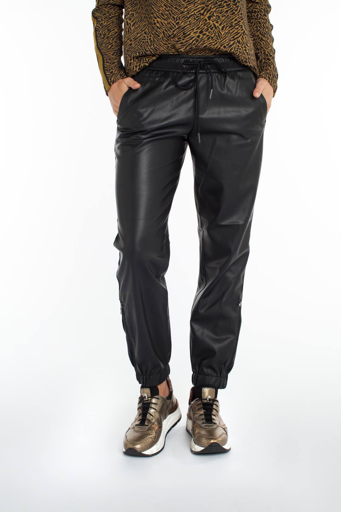 Rosner Dames May imitatieleren broek zwart