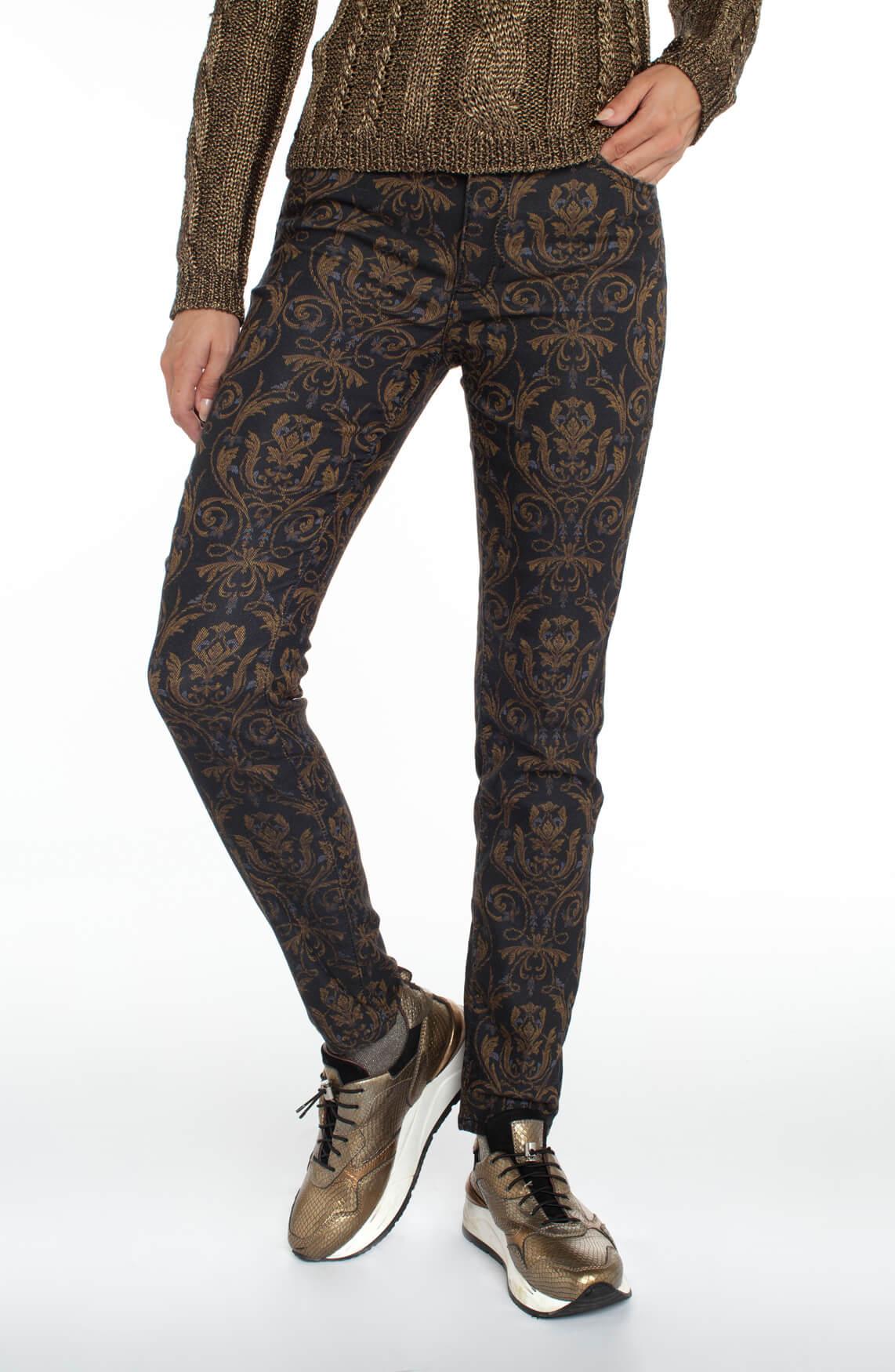 Rosner Dames Audrey jeans met barok print Blauw