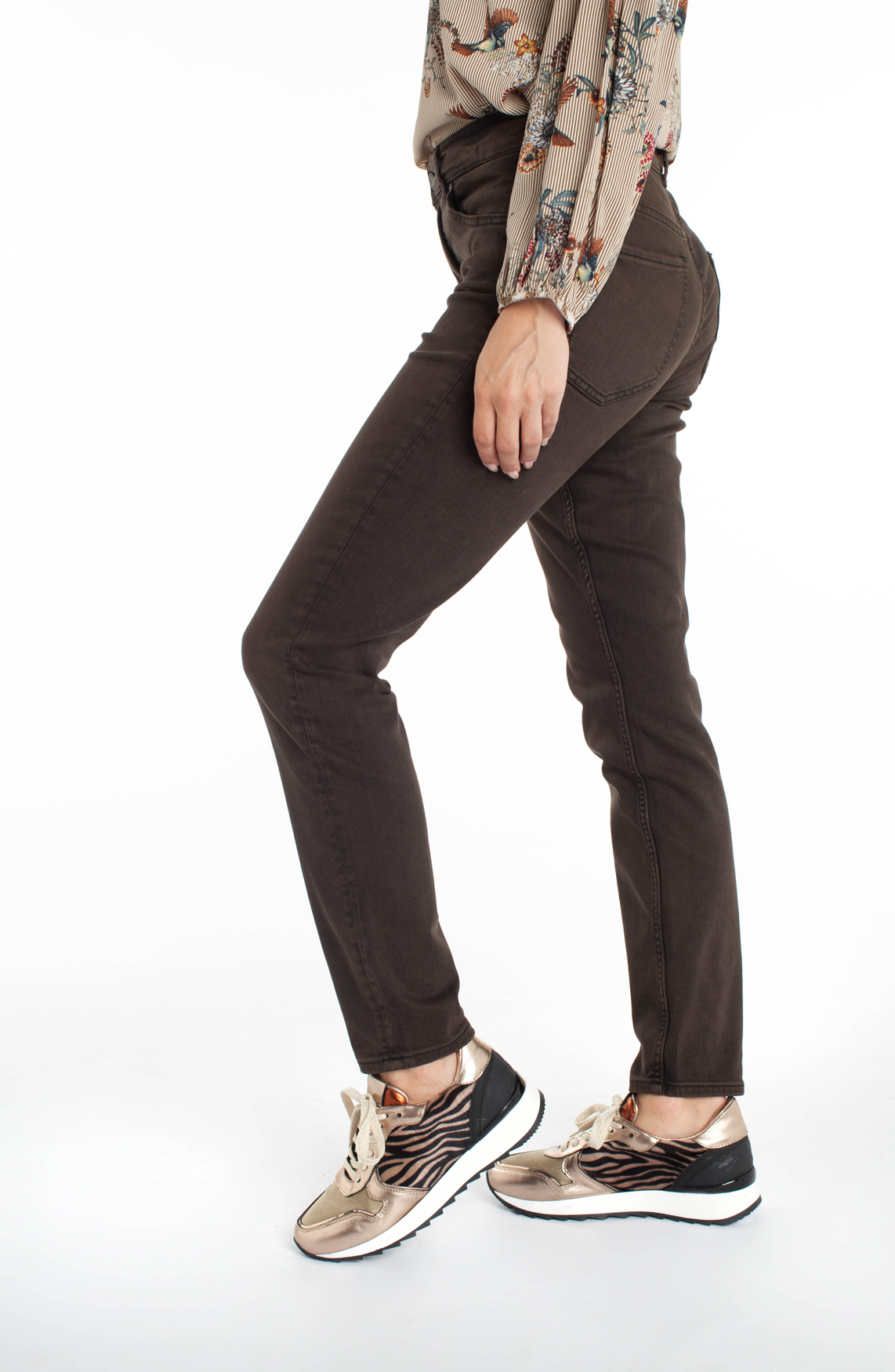 Rosner Dames Audrey bodyshaping jeans Bruin