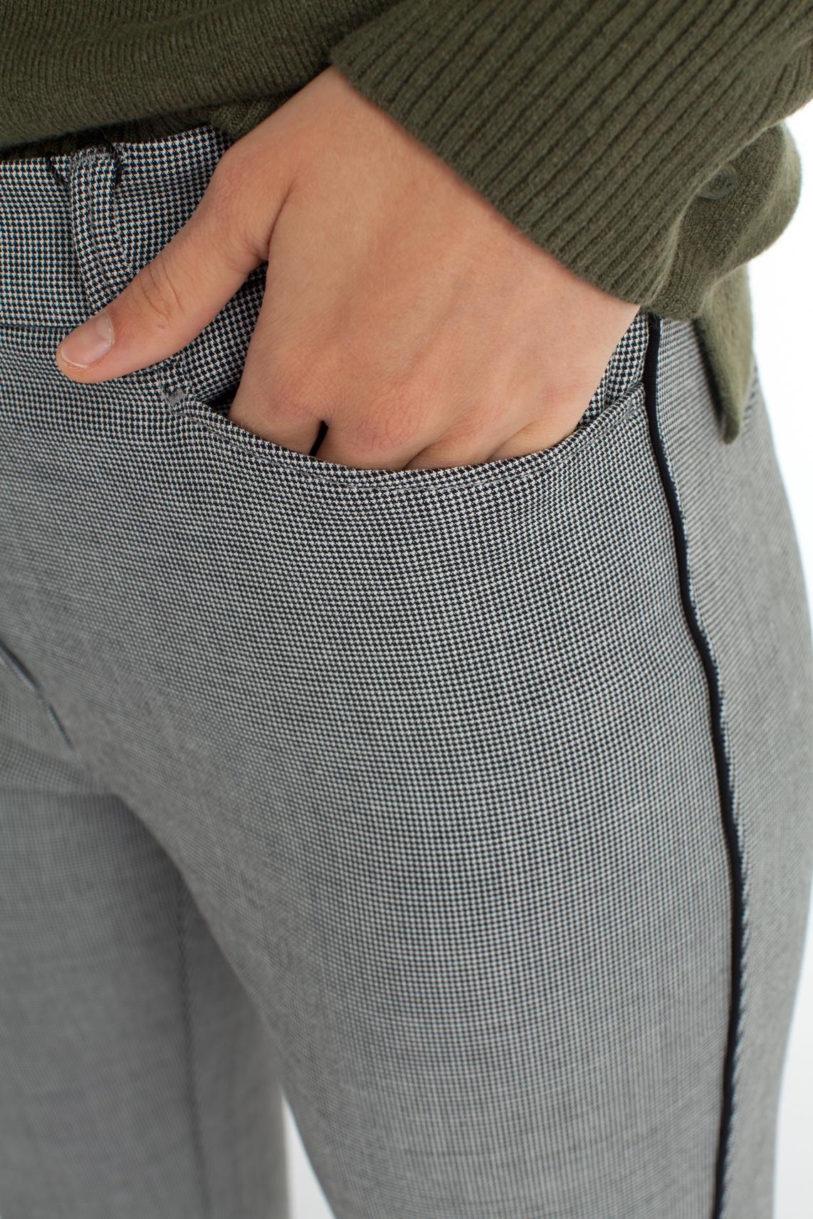 Rosner Dames Audrey pied-de-poule broek zwart
