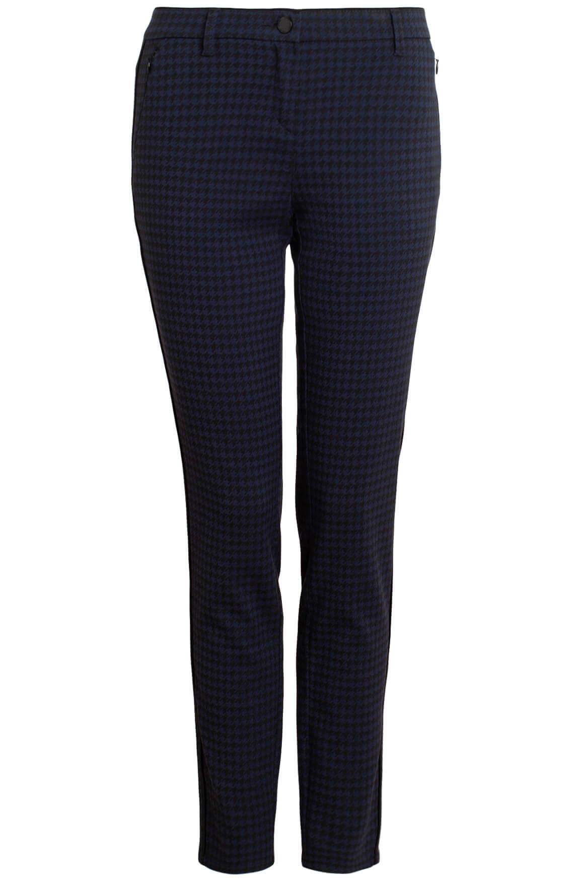 Rosner Dames Alisa pied-de-coque pantalon Blauw