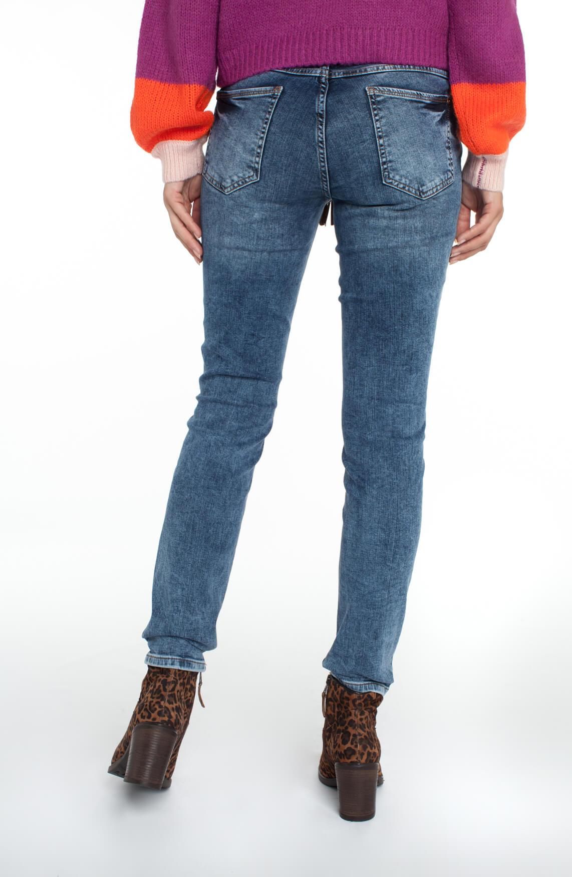 Rosner Dames Antonia jeans met gevlochten ceintuur Blauw