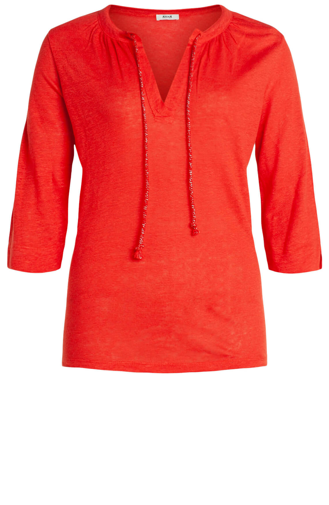 Anna Dames Blouse met strikdetail Rood