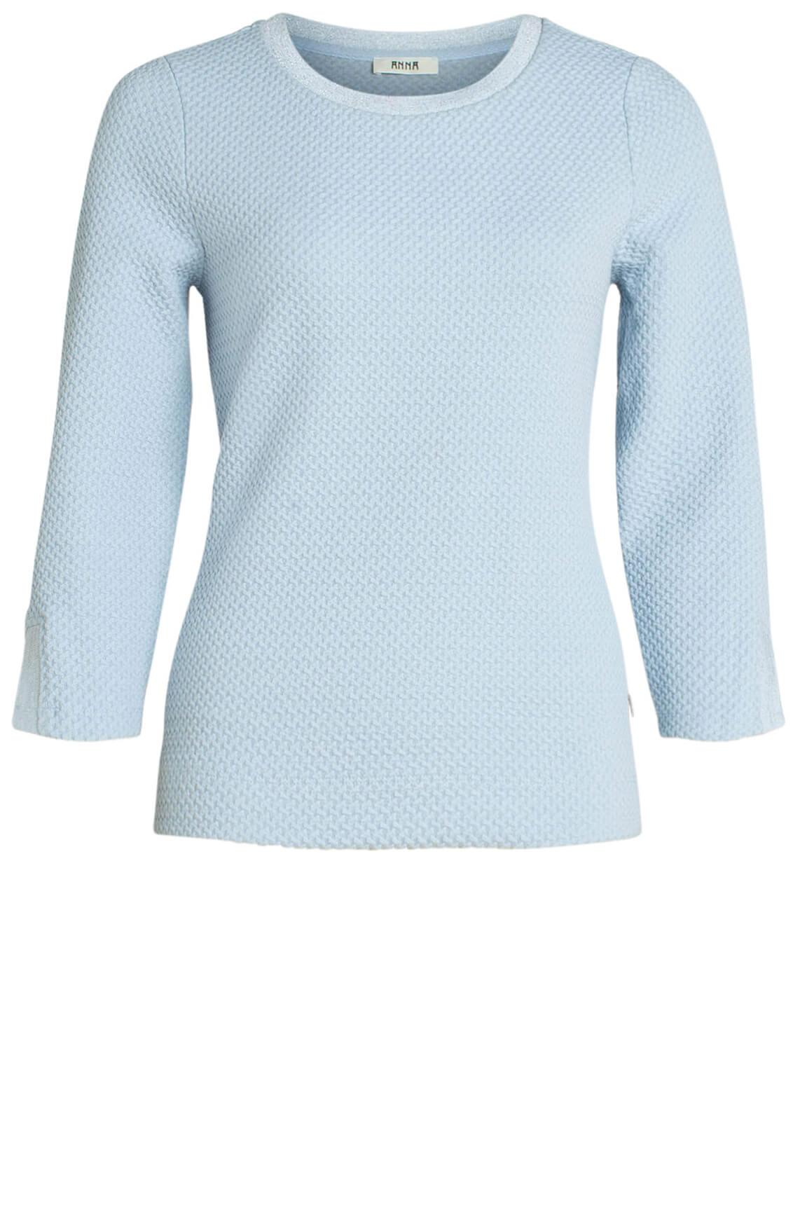 Anna Dames Sweater met reliëf Blauw