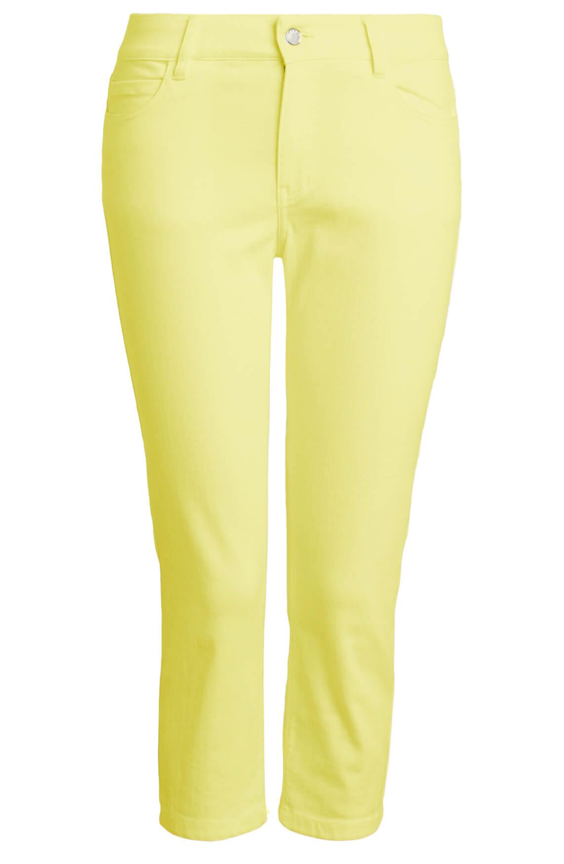 Anna Dames Capri broek geel