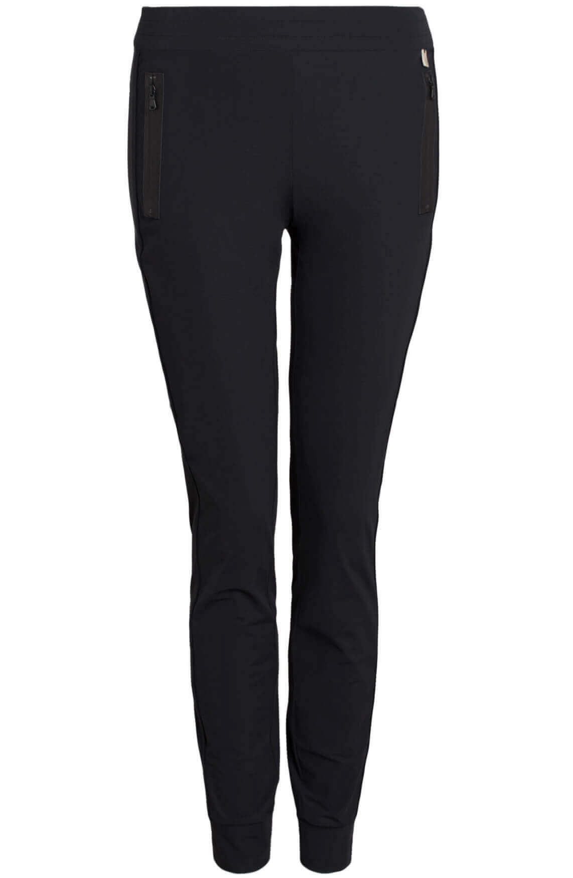 Anna Dames Jersey sensitive jogpantalon zwart